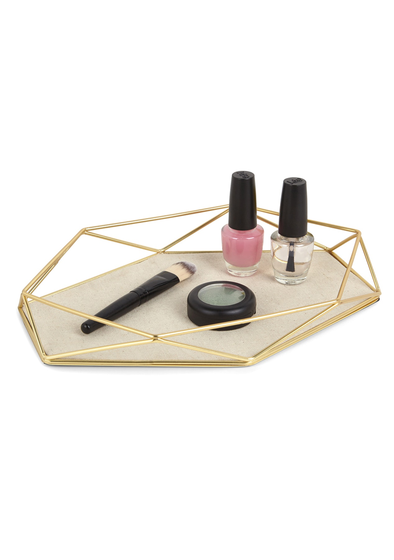 umbra prisma jewelry tray matte brass umbra