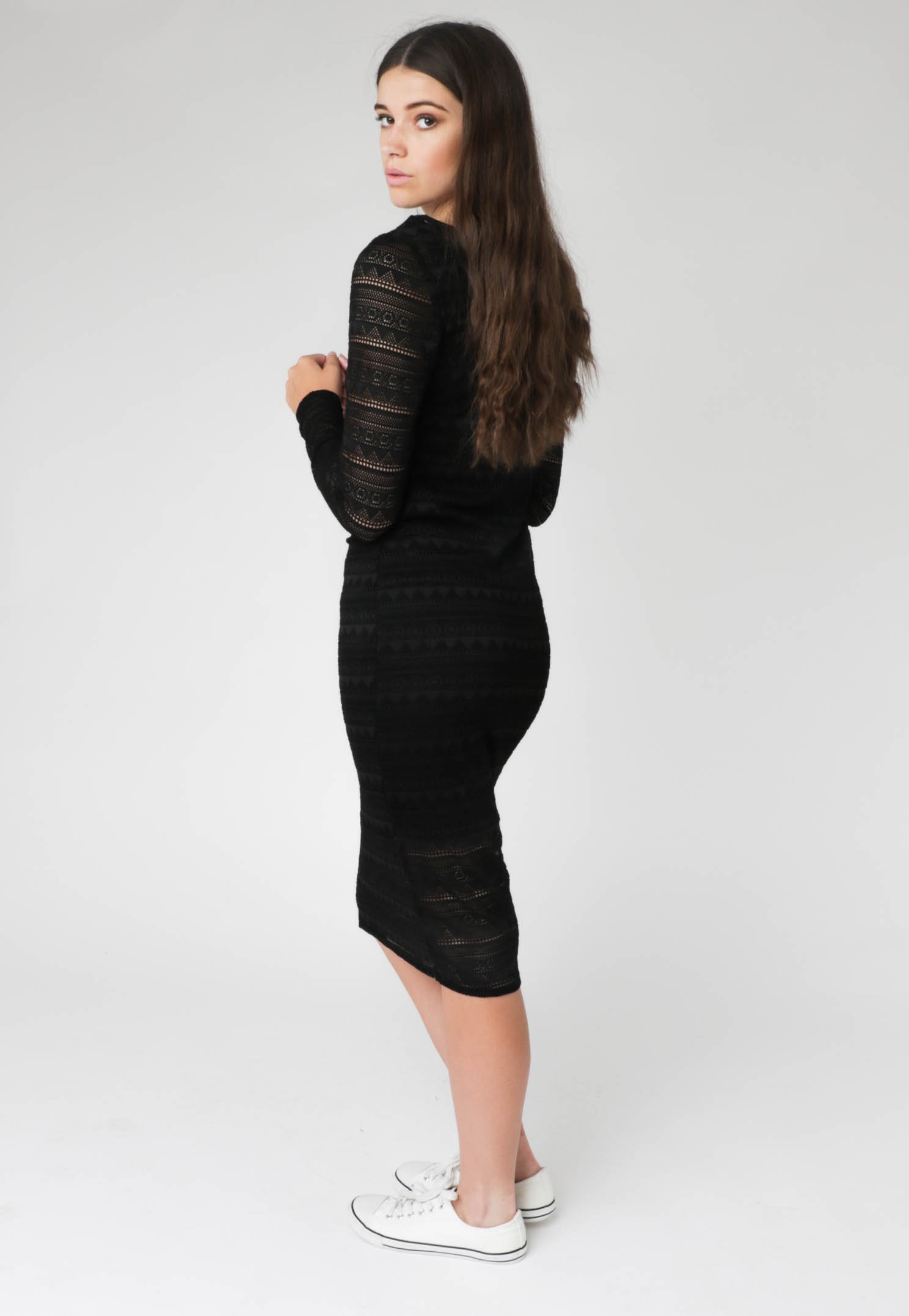 All About Eve - Independence Midi Dress - Black