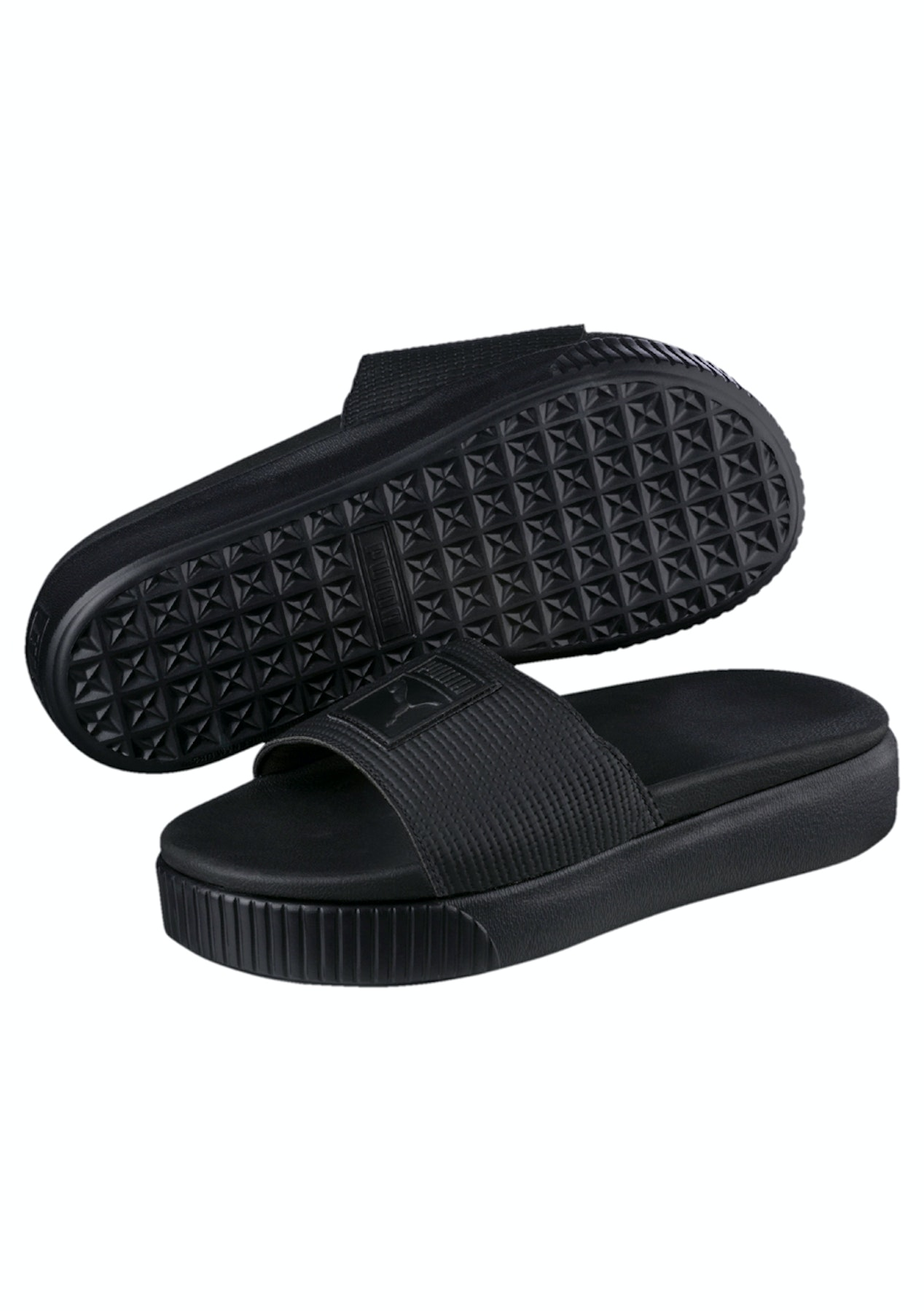 cdfb1b041a6 Puma Womens - Platform Slide Ep - Black - Summer Slides and Sandals - Onceit