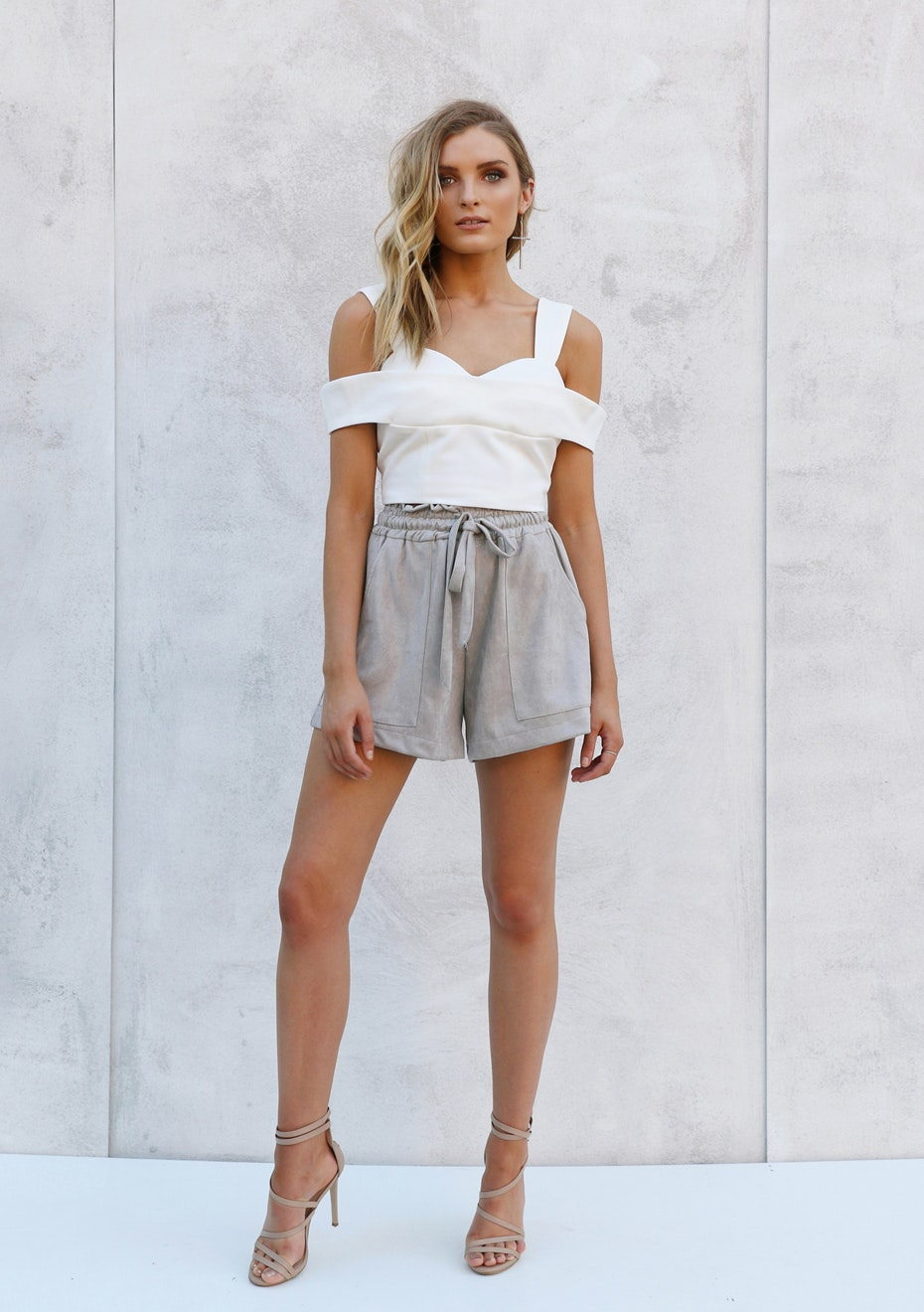 Madison - CAMILLA CROP - WHITE
