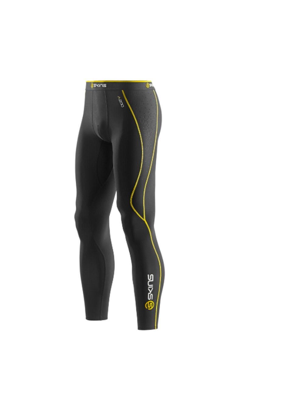 Skins -  A200 Bk/Yellow Thera Long Tight - Mens