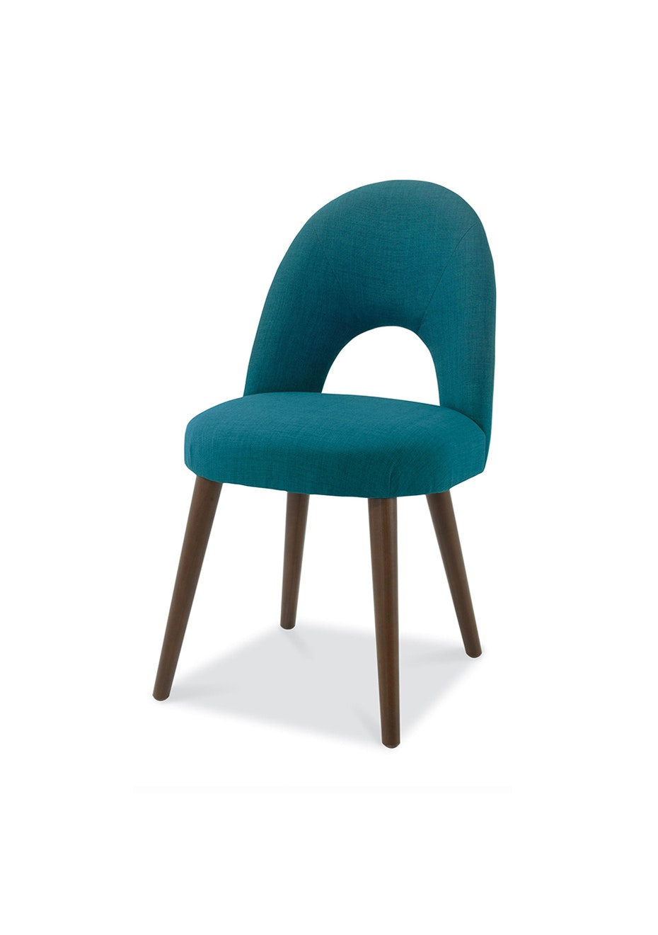 Furniture By Design - Oslo Chair- Walnut and Teal