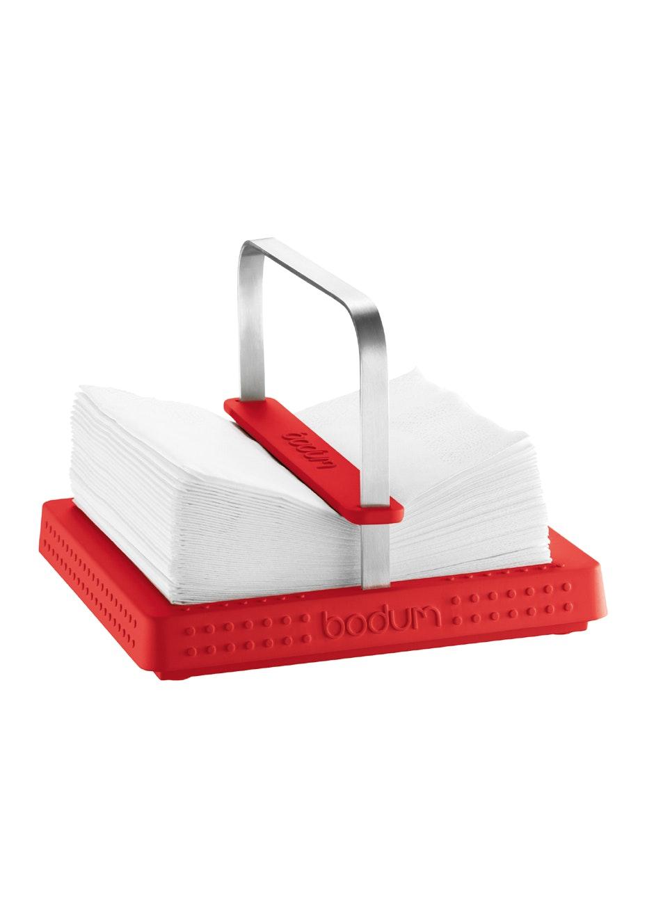 Bodum - Napkin Holder, 20 X 20 Cm - Red