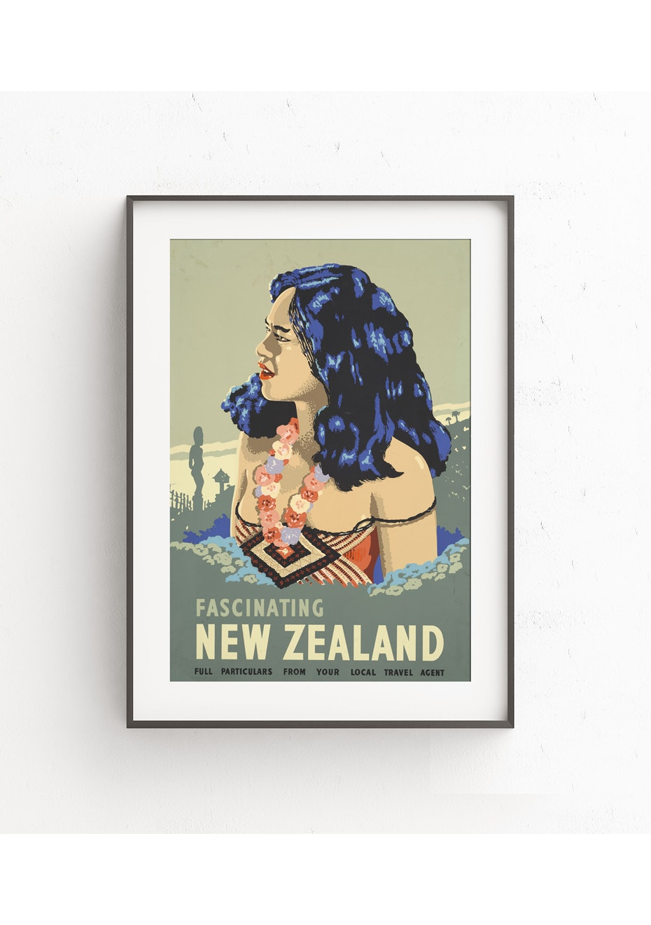 Fascinating New Zealand Vintage Tourist Print - A1