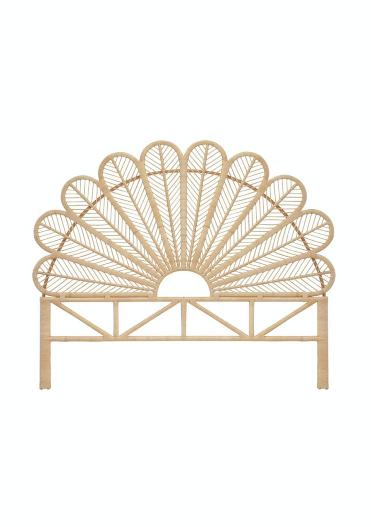 George St King Size Peacock Headboard Natural Presale