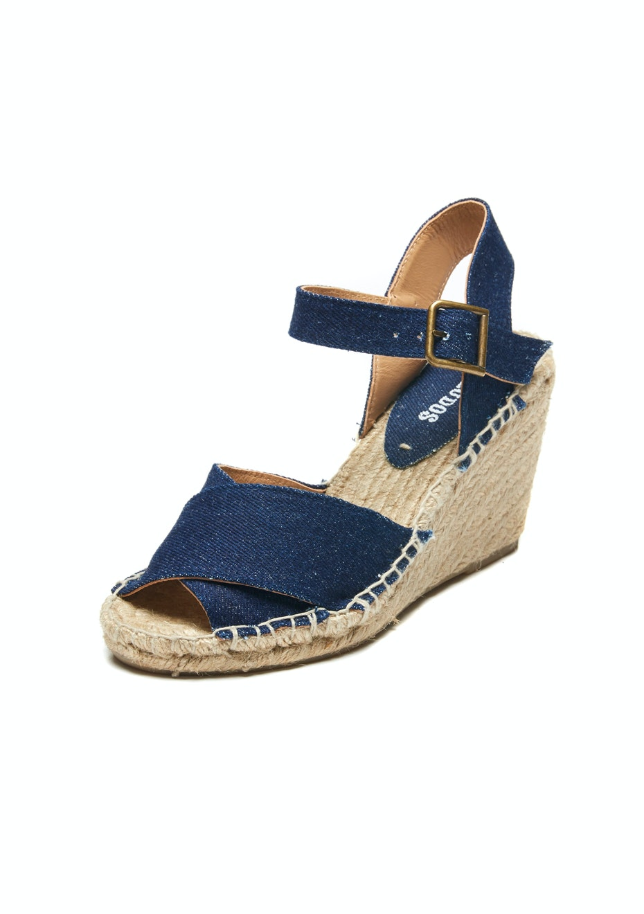 Soludos - Criss-Cross Wedge - Denim