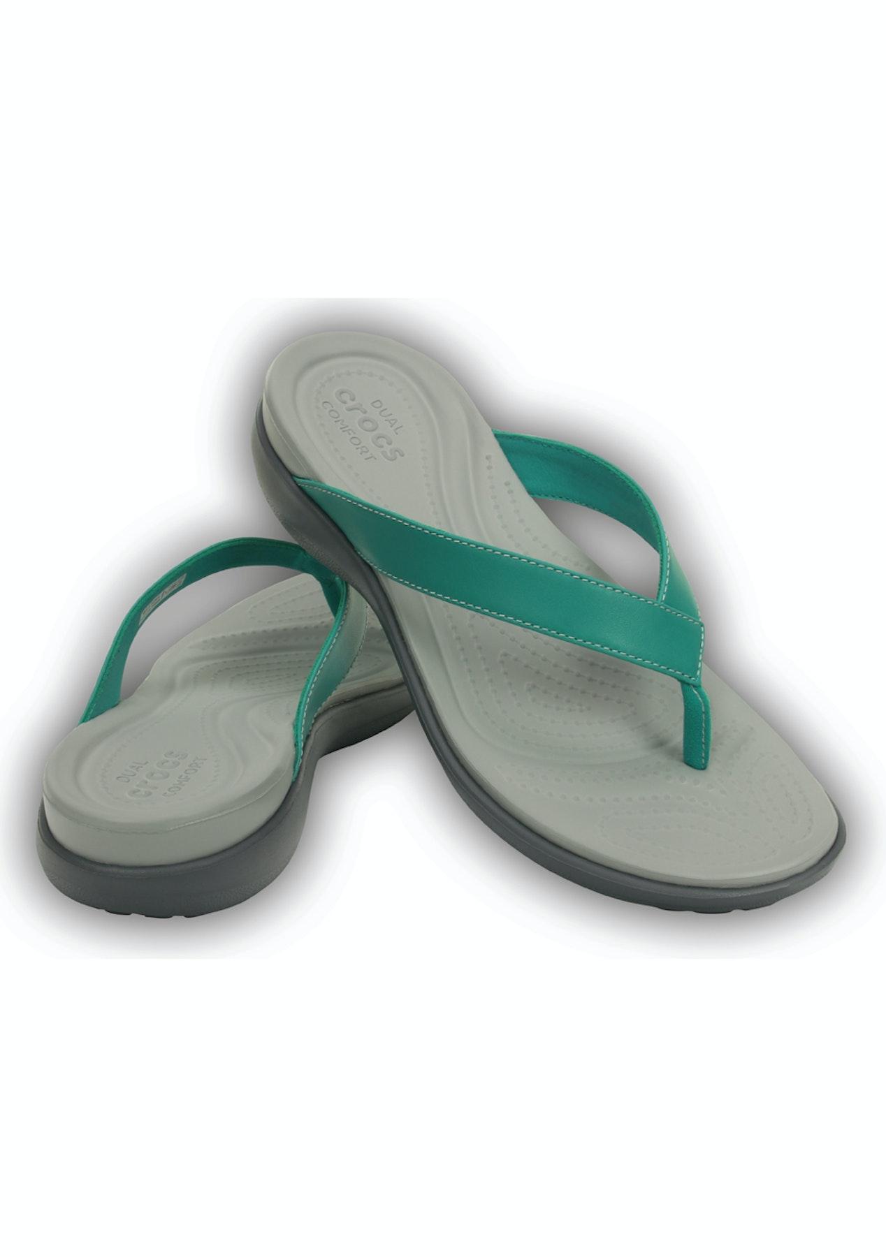 99855c65d033 CROCS - Womens Capri V Flip - Teal - Crocs - Onceit