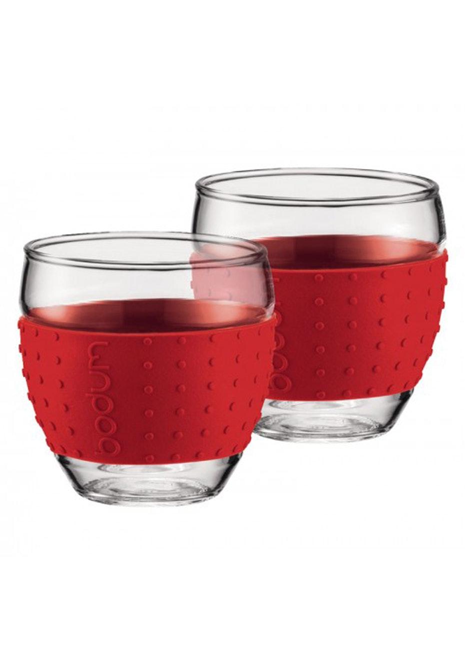 Bodum - 2 Pcs Glass, 0.35L - Red
