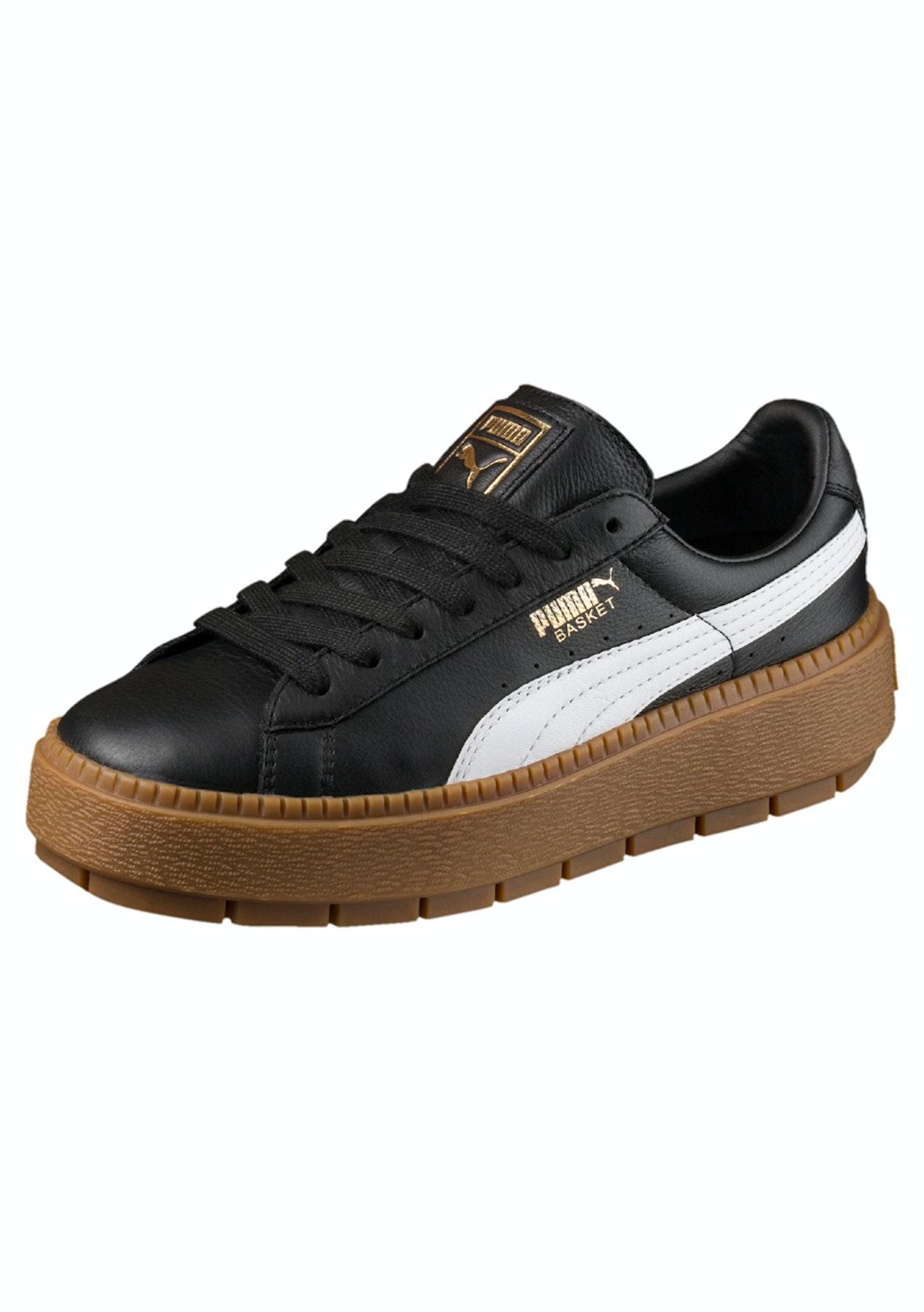 ea026d0d2d9 Puma Womens - Basket Platform Trace - Black - White - Street Shoes + Slides  - Onceit