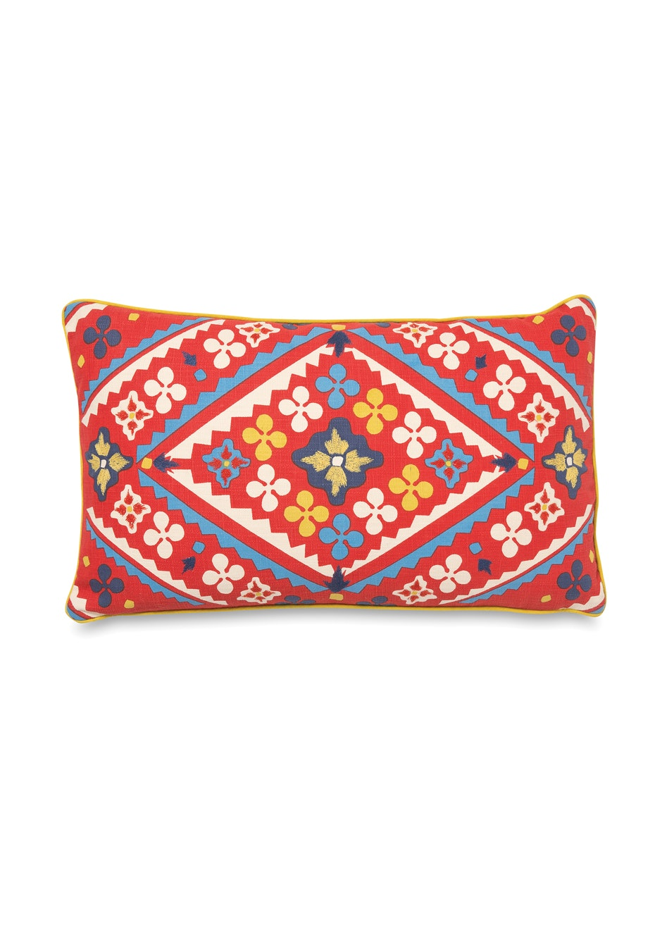 Città - Market Embroidered Lumbar Cushion Cover