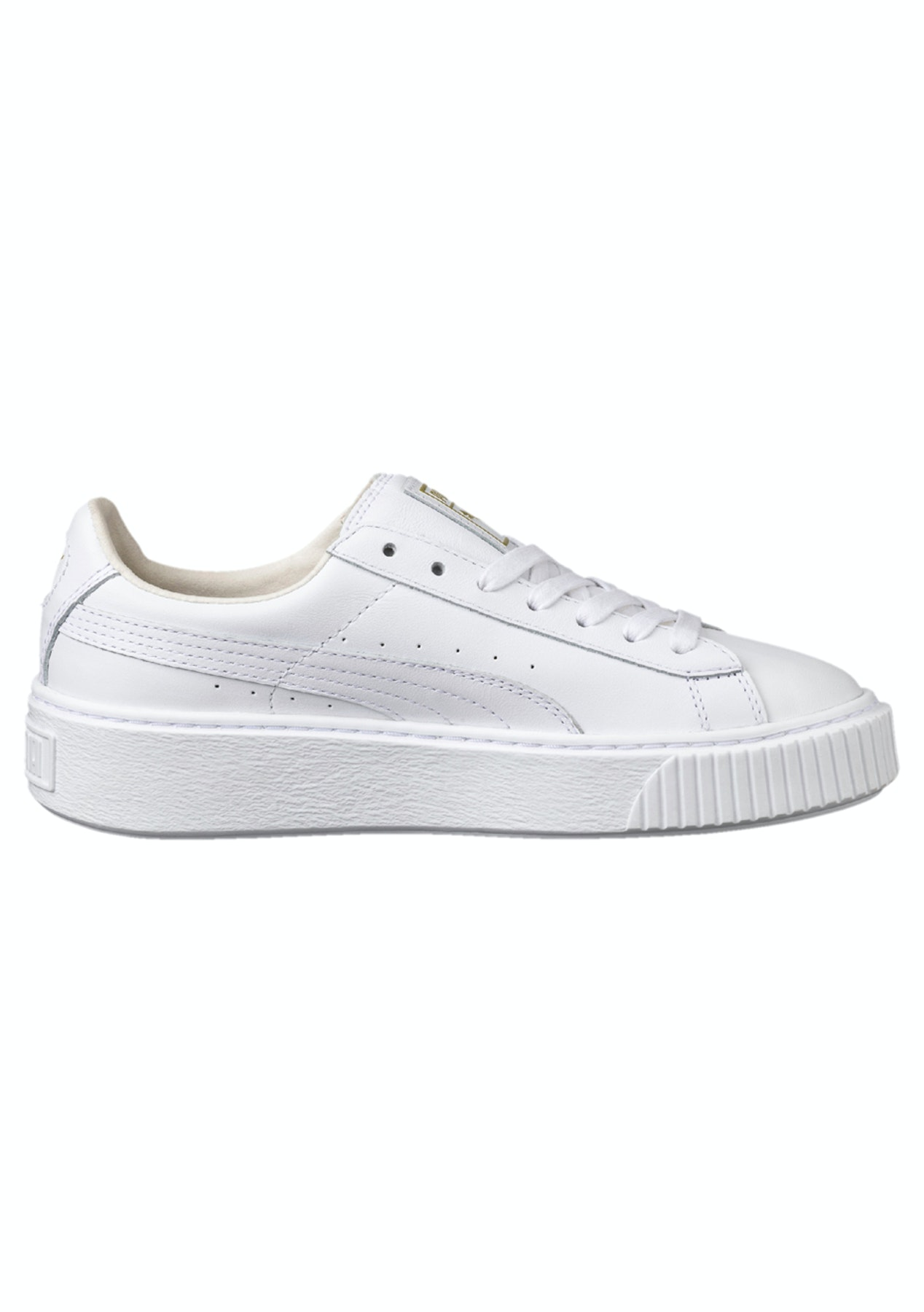 58fff559316f Puma Womens - Basket Platform Core White - Gold - Under  100 PUMA Mega Sale  - Onceit