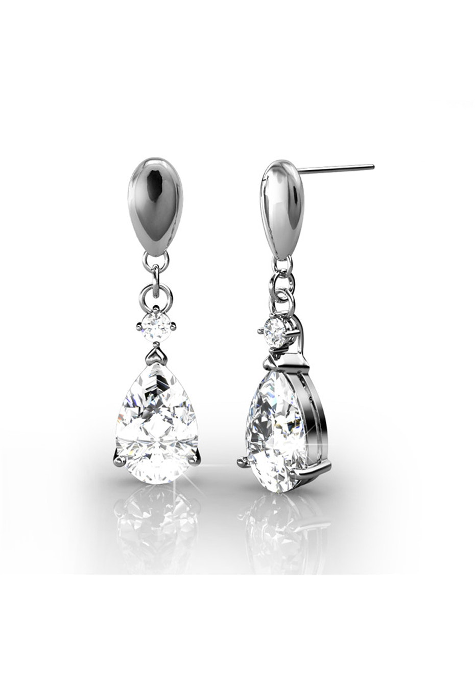 Monaco Drop Earrings Embellished with Crystals from Swarovski