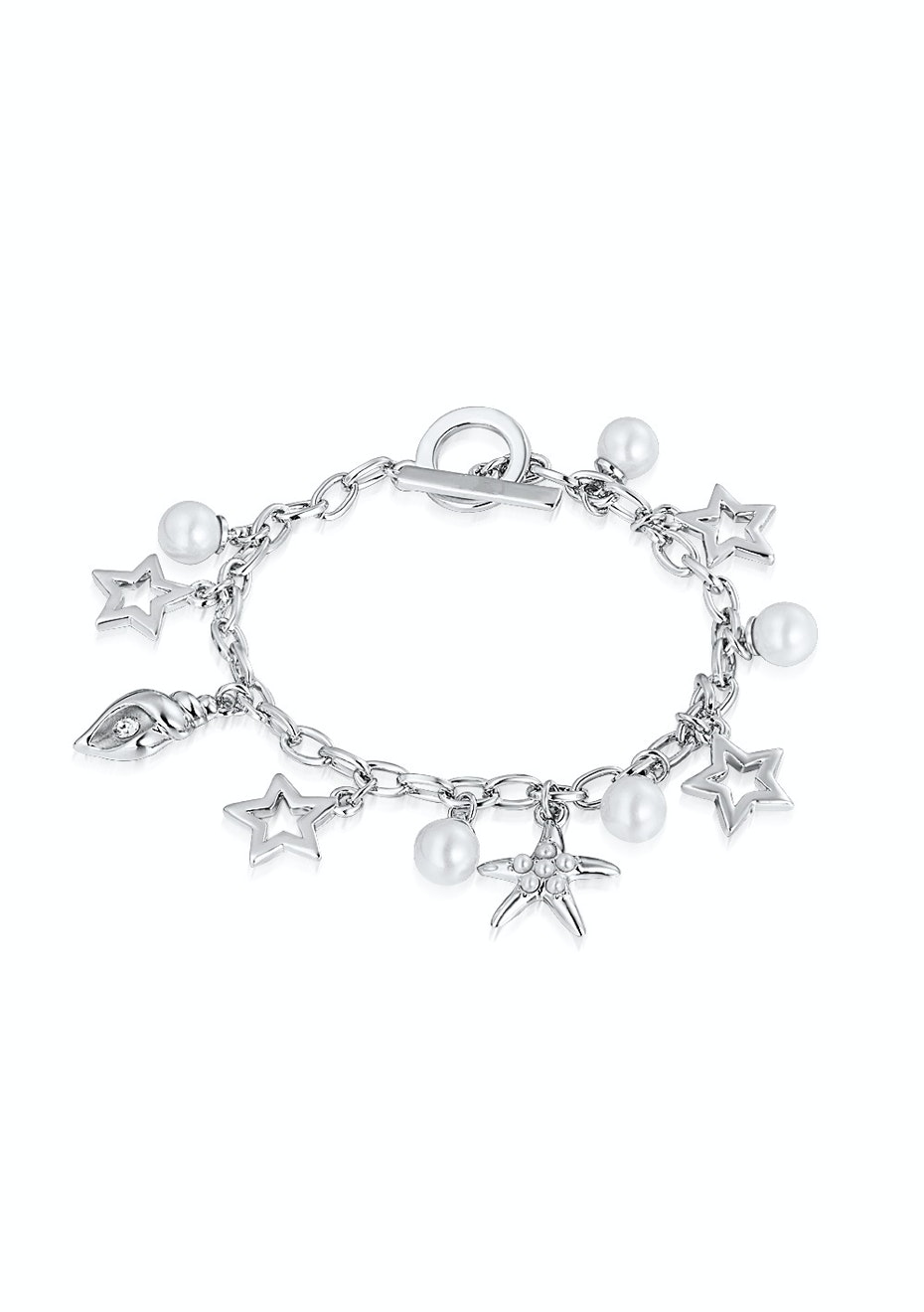 Deluxe Charm Bracelet Embellished with Crystals from Swarovski