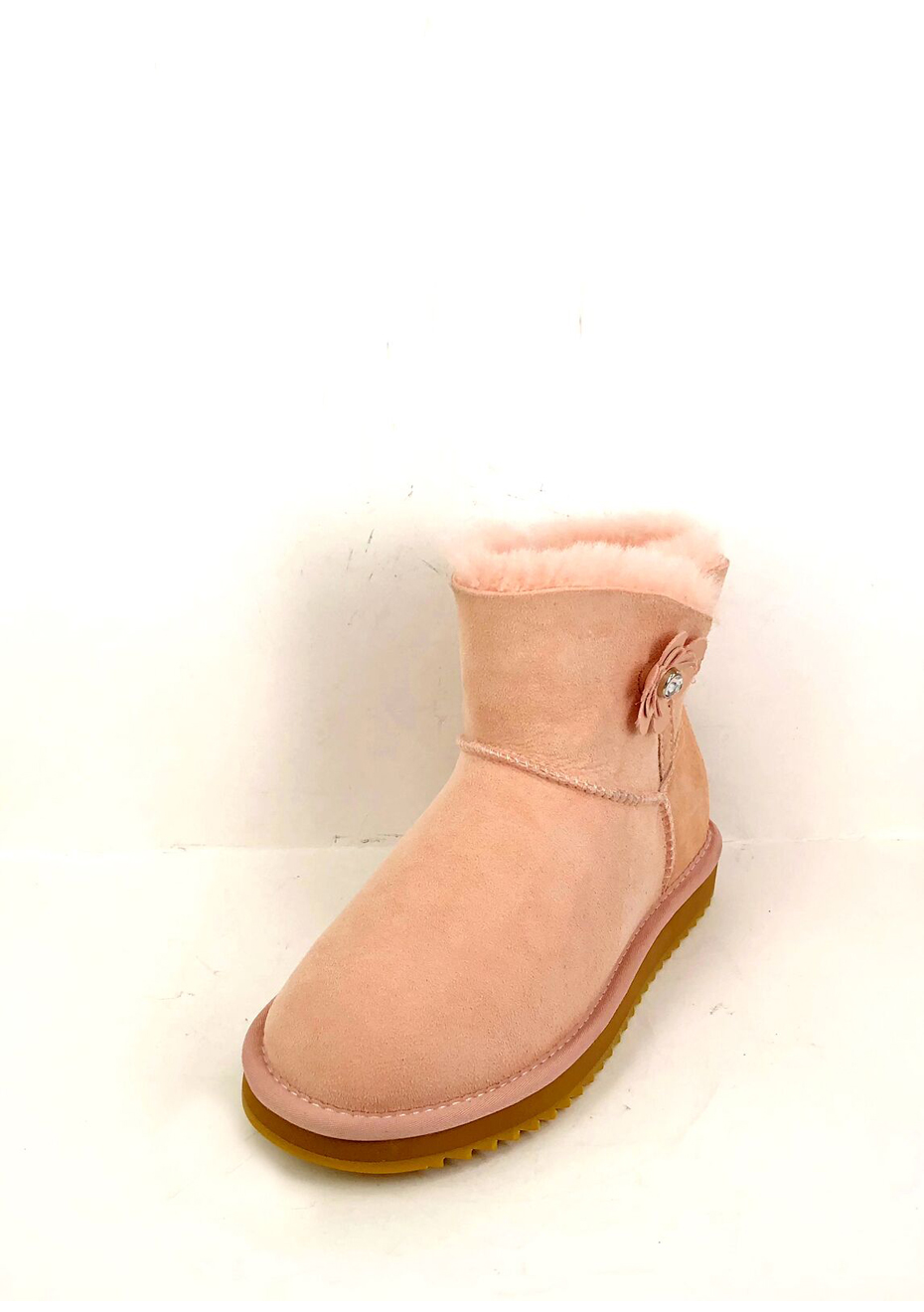 Oz Natives UGG - Ultra Short with flower button Women - Pink - OzNative Uggs Up To 64% off - Onceit