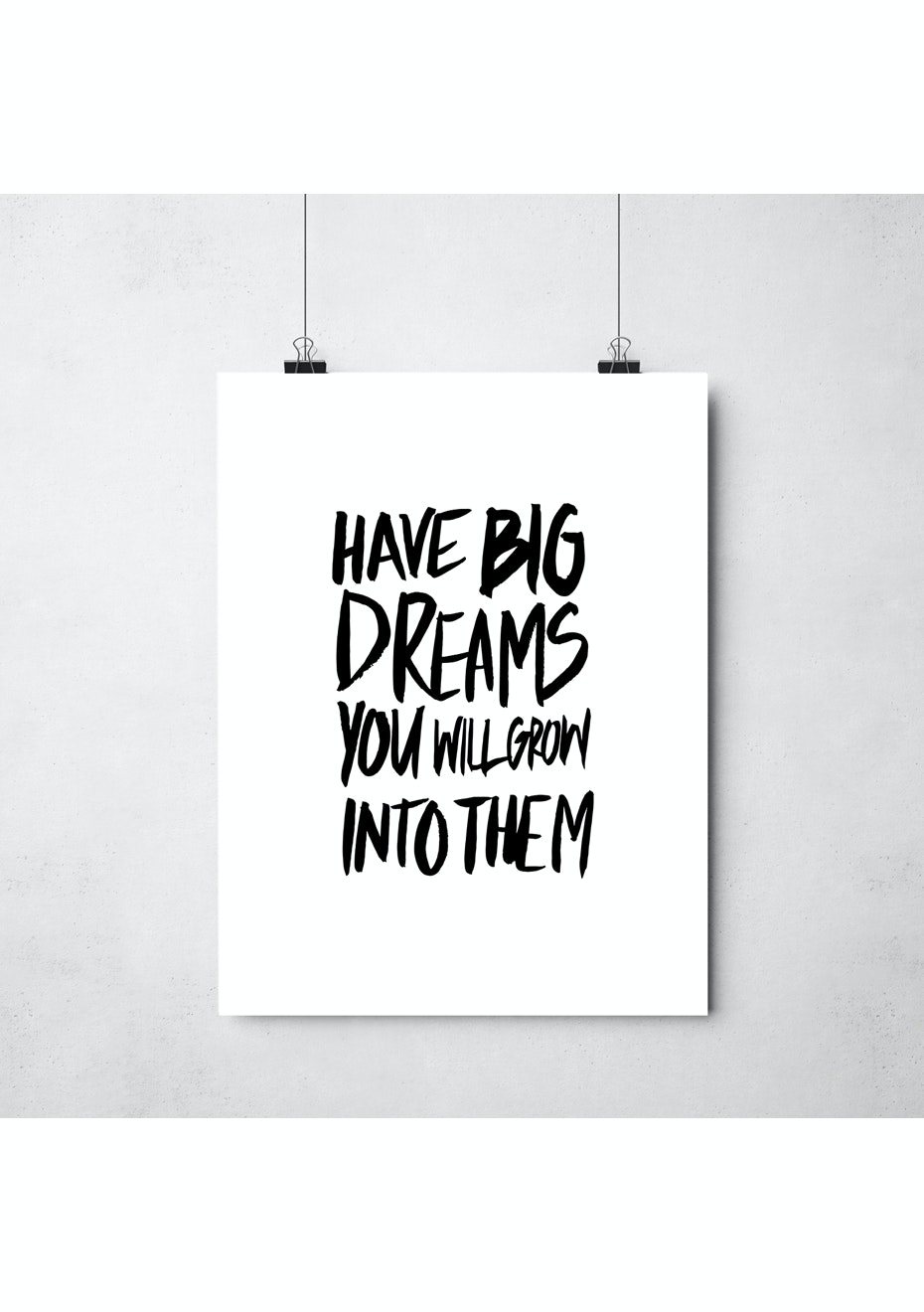 Simply Creative - Big Dreams - A3 Colour Print