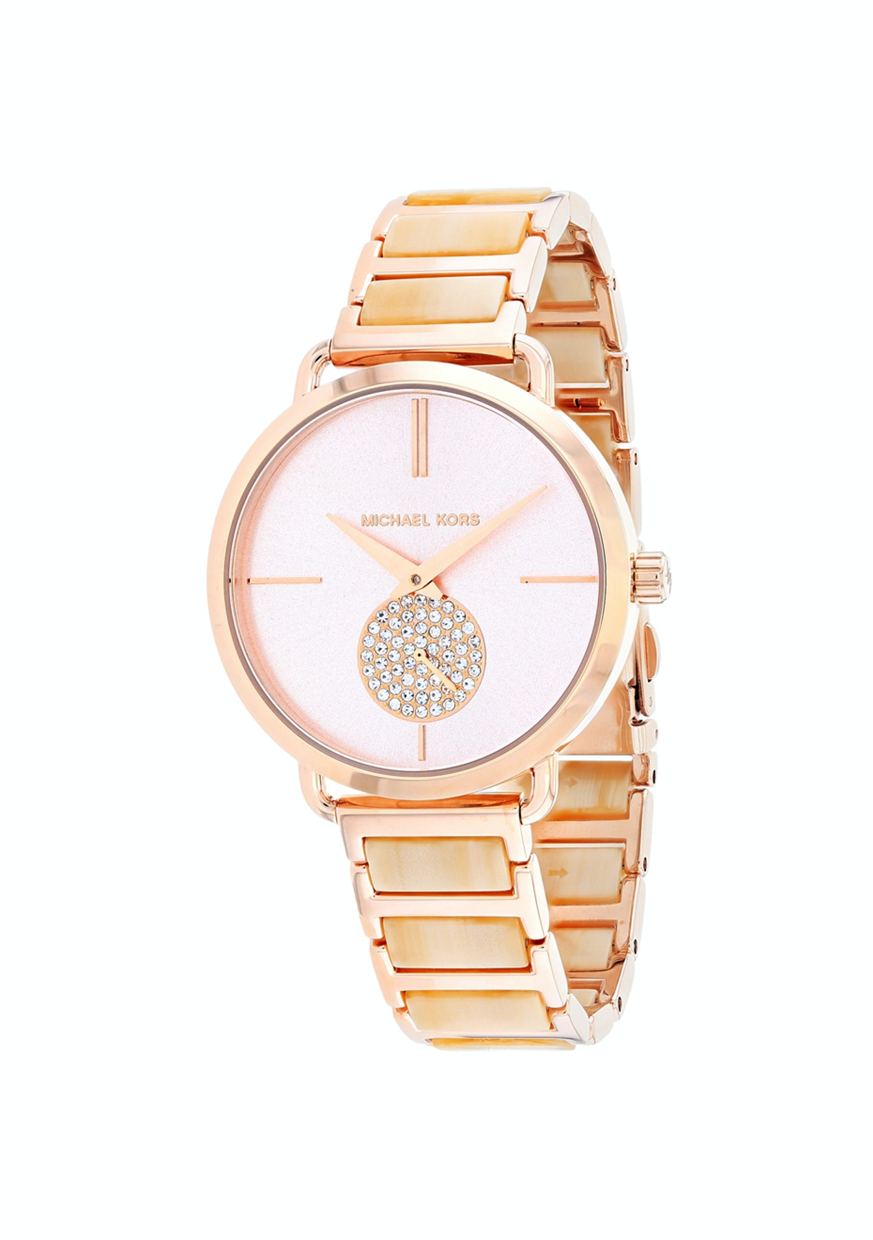 b34dbe763799 Michael Kors Women s Portia - Two tone Rose gold Champagne - Best Selling  Watches - Onceit