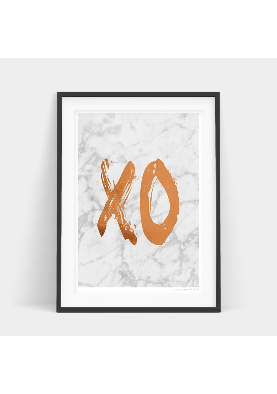 Simply Creative - Light Copper Xo - A4 Copper Foil Print