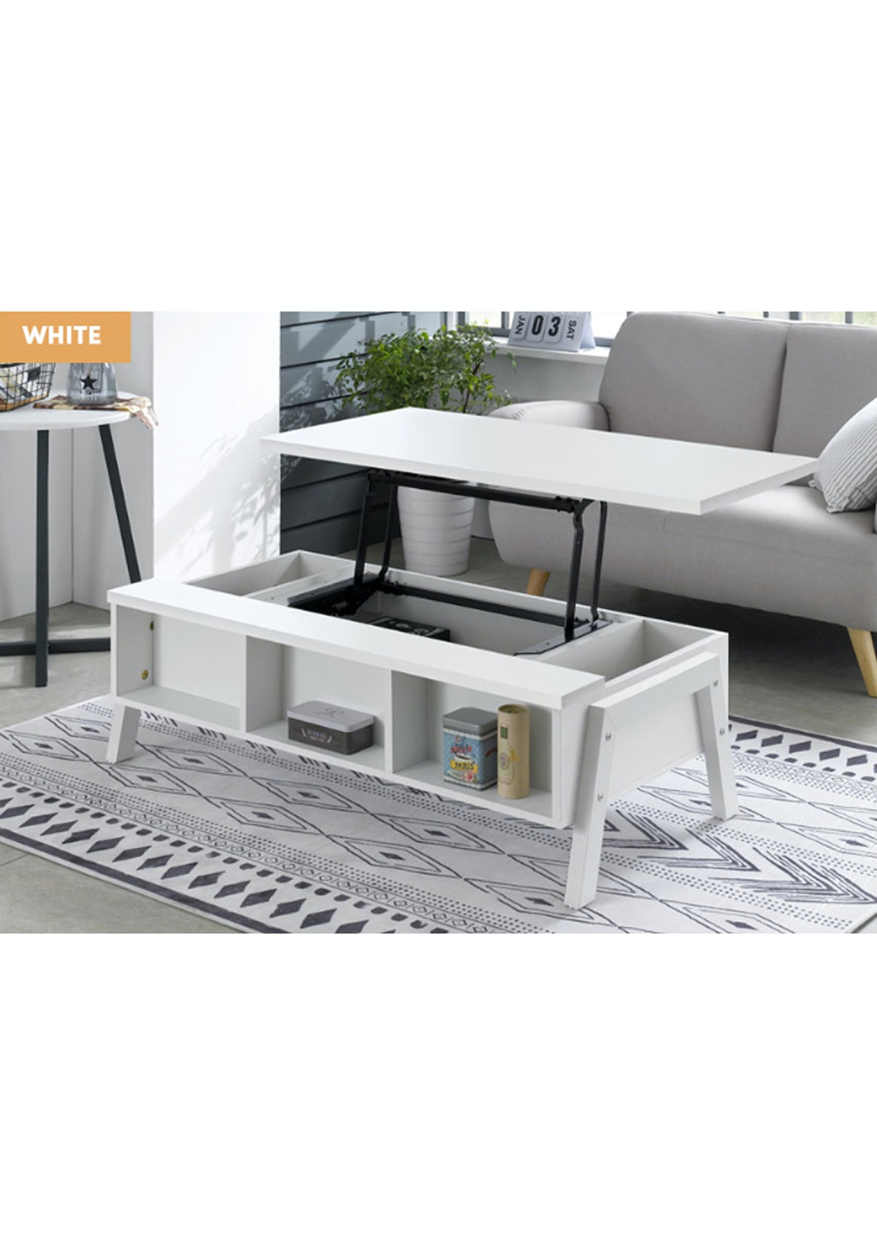 White Lift Up Coffee Table.Tod Lift Up Coffee Table