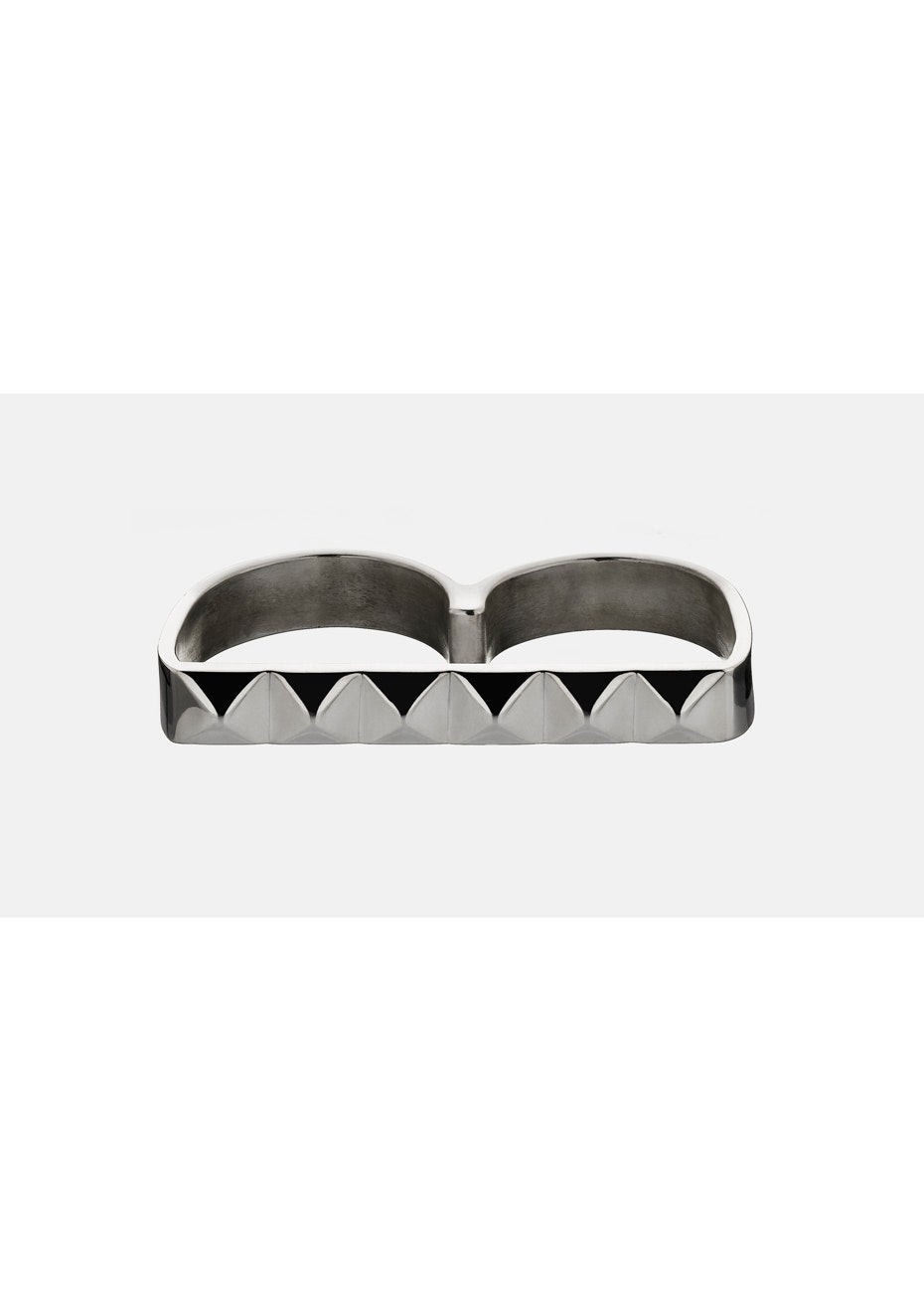 Meadowlark - Sutdded Double Ring - Silver