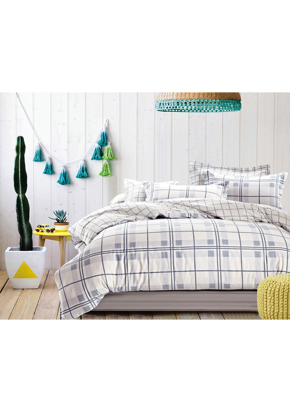 Coby Quilt Cover Set - Queen Bed - Reversible Design