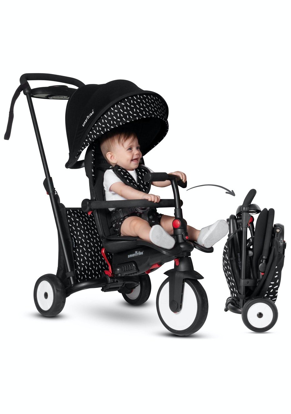 Smartrike Str5 7 In 1 Folding Trike Black White Our Lowest Price Ever Madd Gear Scooters More Onceit