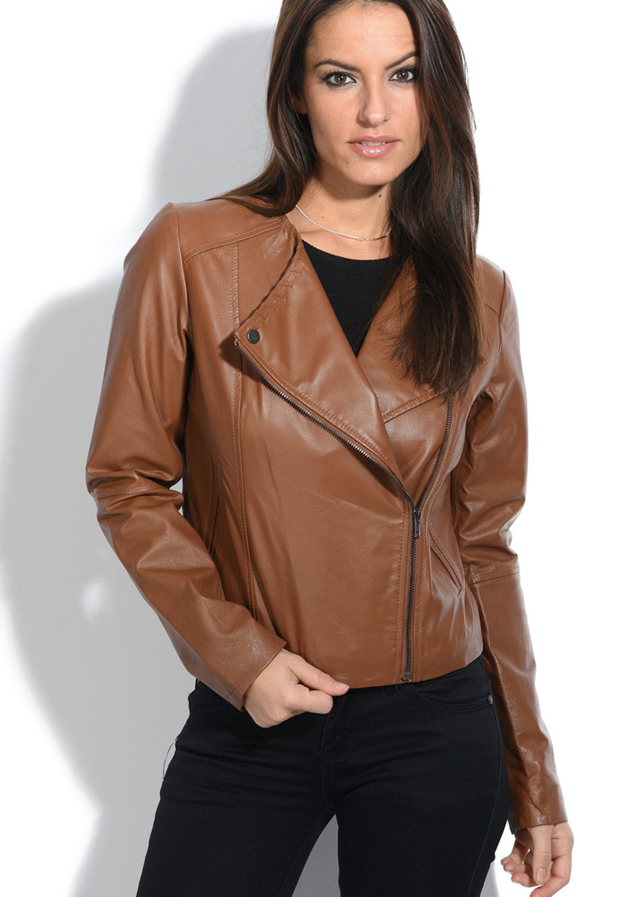 sophisticated technologies finest fabrics best sale Genuine Leather Anna Womens Jacket - Camel - $124.95 ...