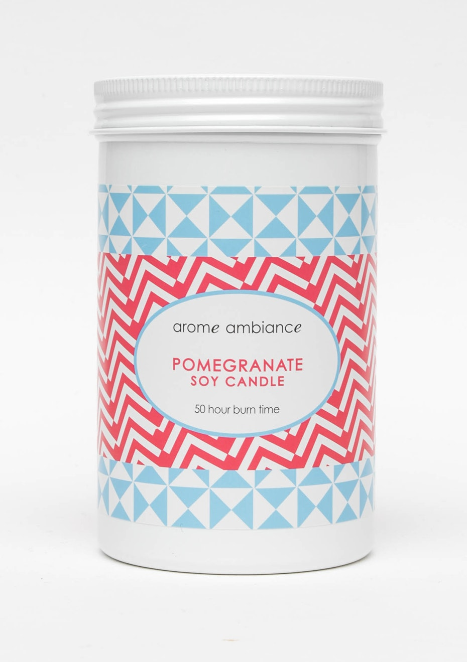 Arome Ambiance Geo Pop Pomegranate Soy Candle 50Hr
