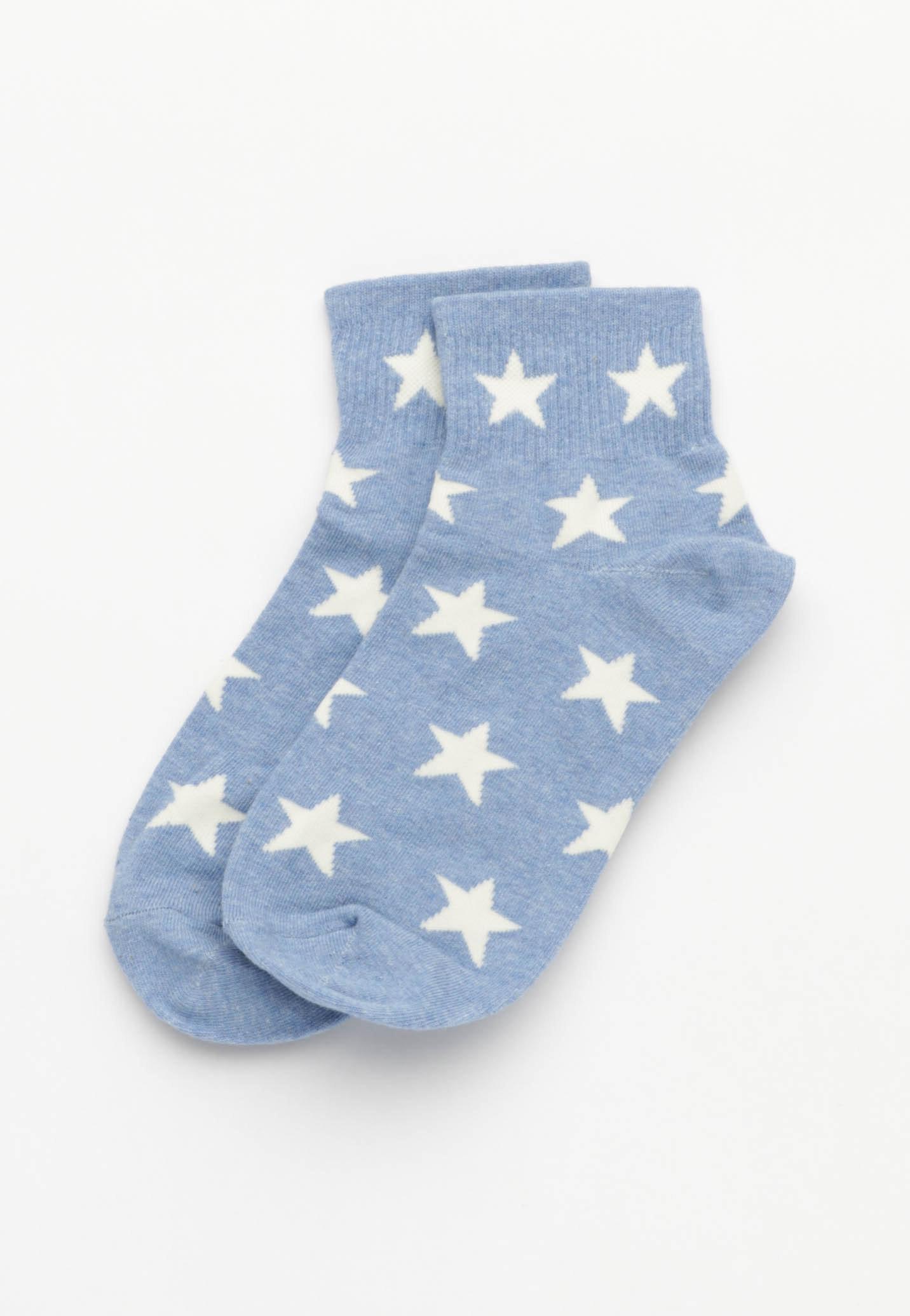 Star Socks - Blue/White