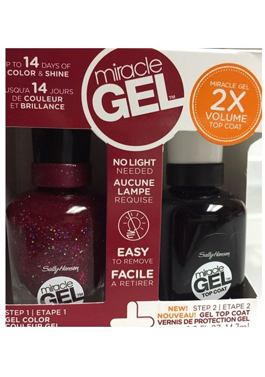 Sally Hansen Miracle Gel Duo Pack Ruby Shimmers 590
