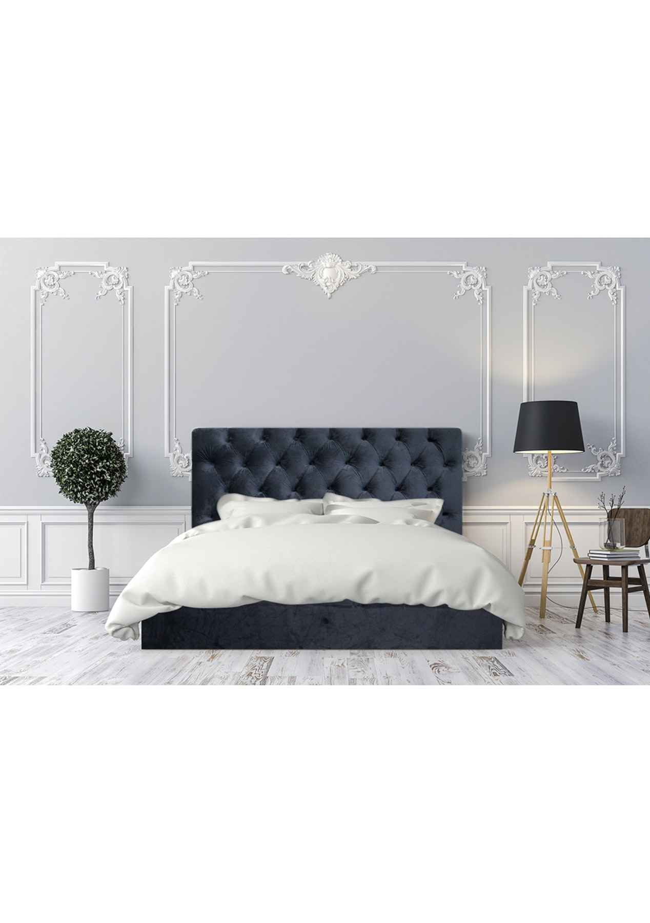 velvet headboard king  navy  premium velvet button headboards  onceit. velvet headboard king  navy  premium velvet button headboards