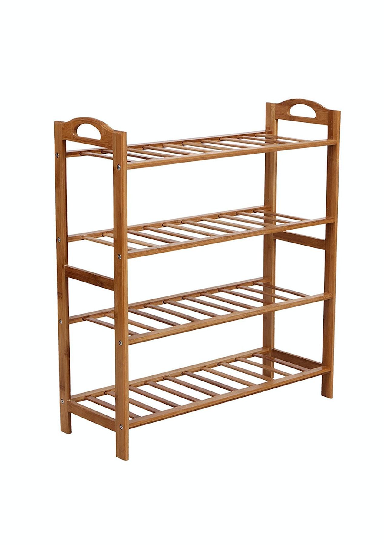 kitchen dp home rack shoe amazon bamboo stackable tier shelf com oceanstar