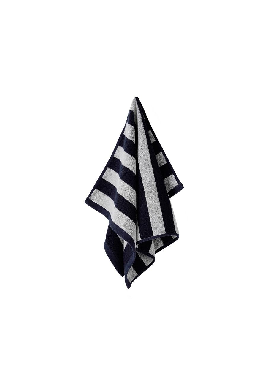 Aura Stripes Hand Towel 450 X 700Mm Indigo