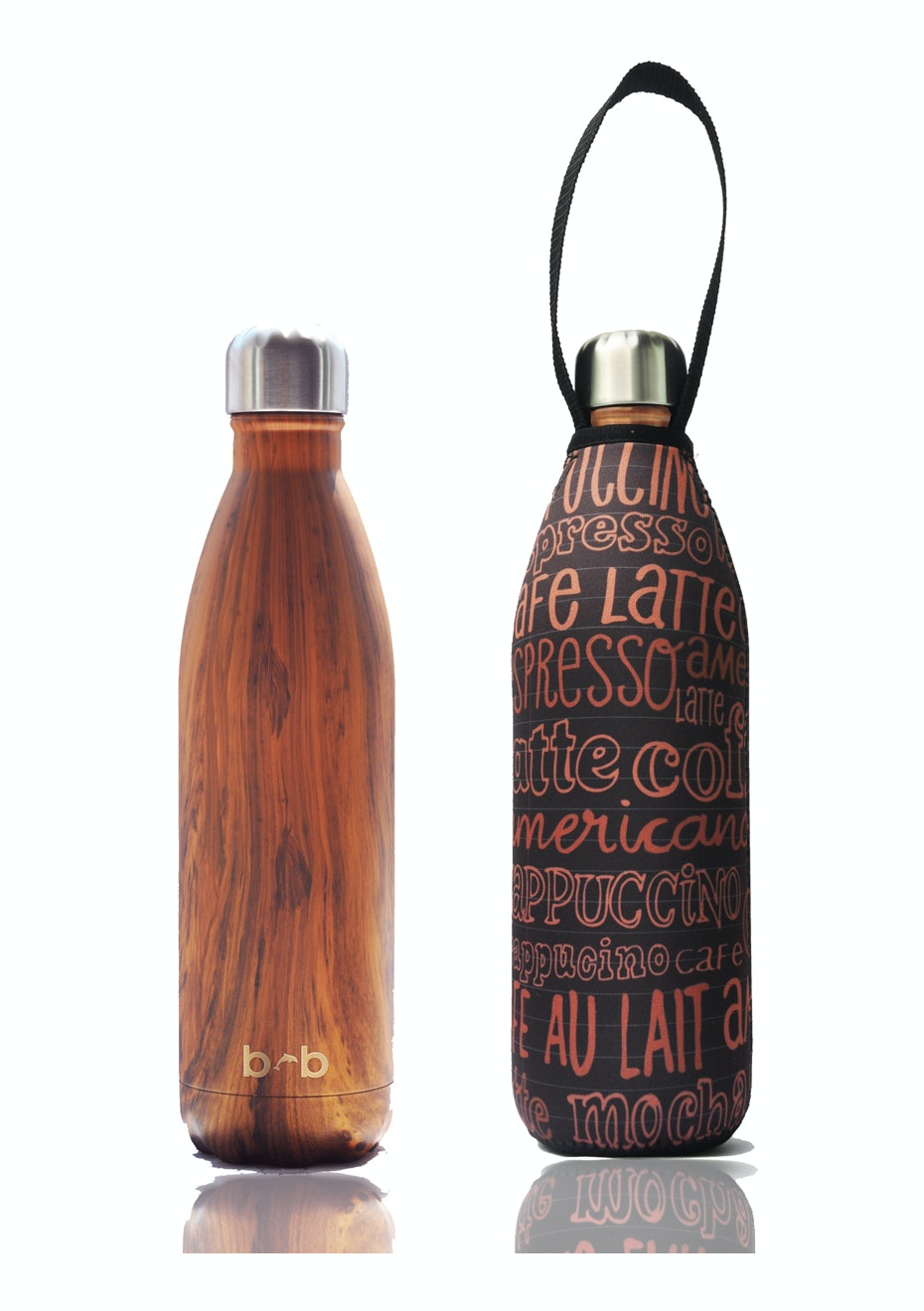 BBBYO - Future Bottle+ Carry Cover (Kofe Print) - 500 ml Woodgrain