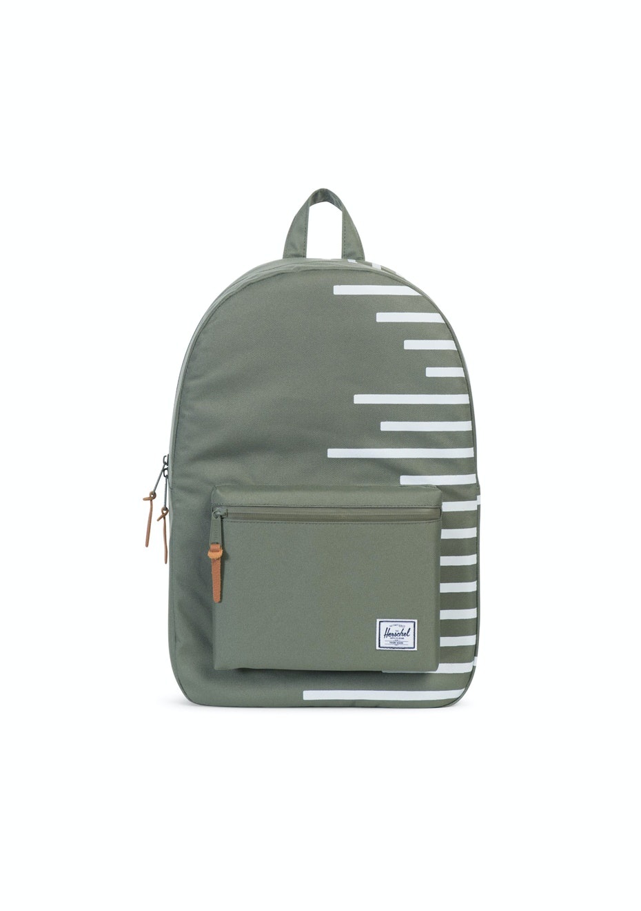 Herschel Supply Co - Settlement - Deep Lichen Green/Blanc de Blanc Stripes