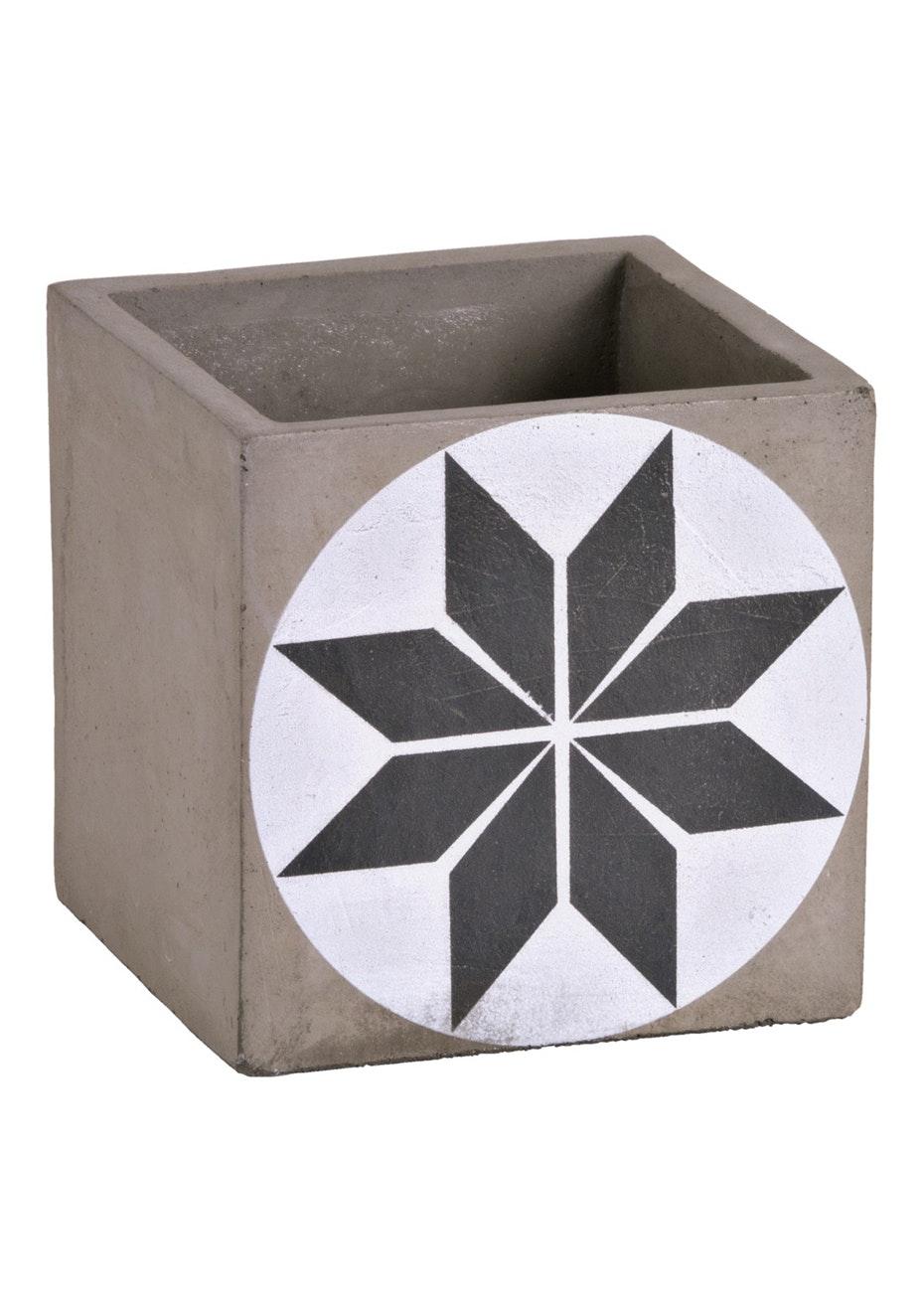 Jason - Concrete star pattern planter - Printed Concrete