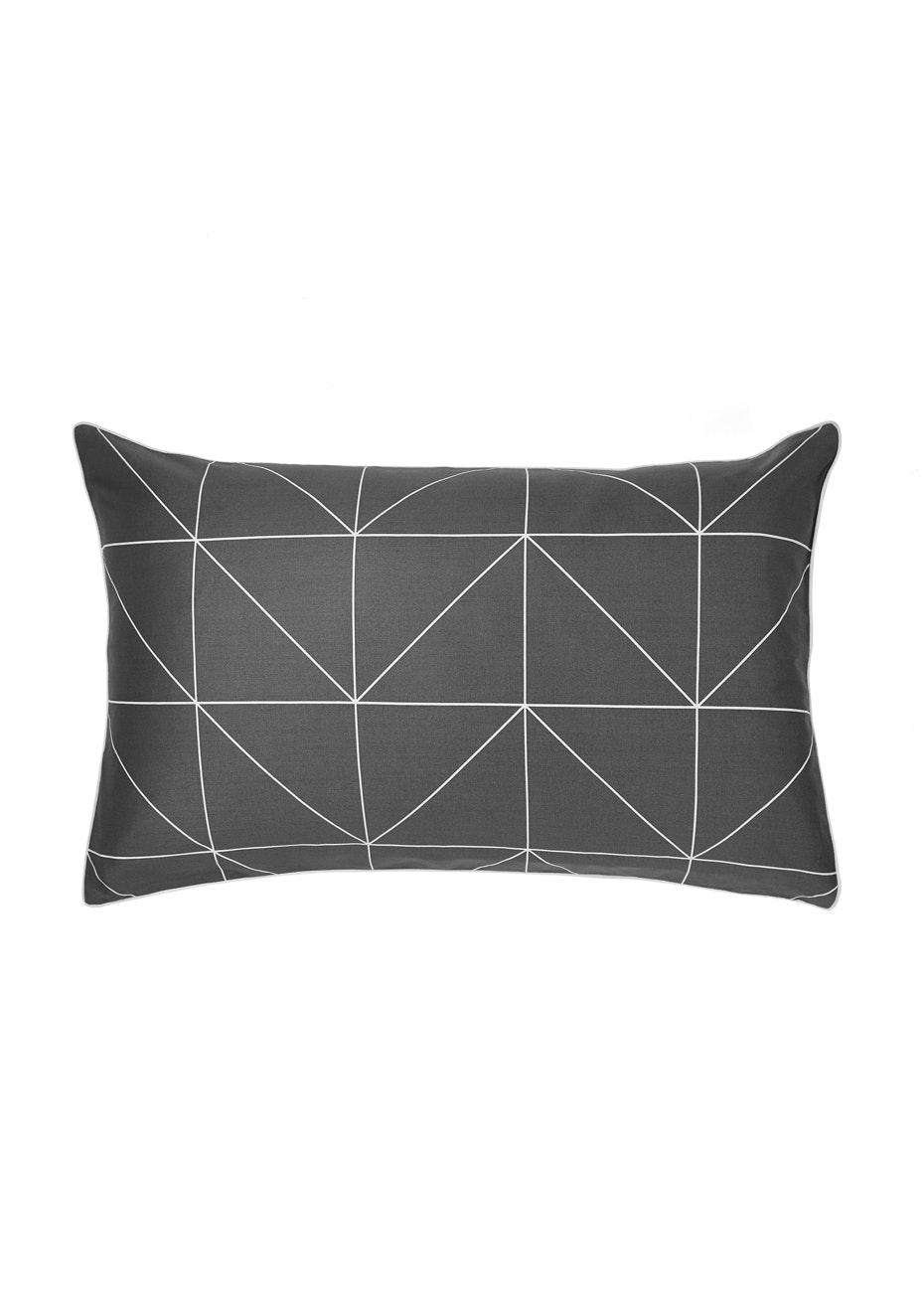Aura Kami Std Pillow Case Ea Pillowcase - Standard Charcoal