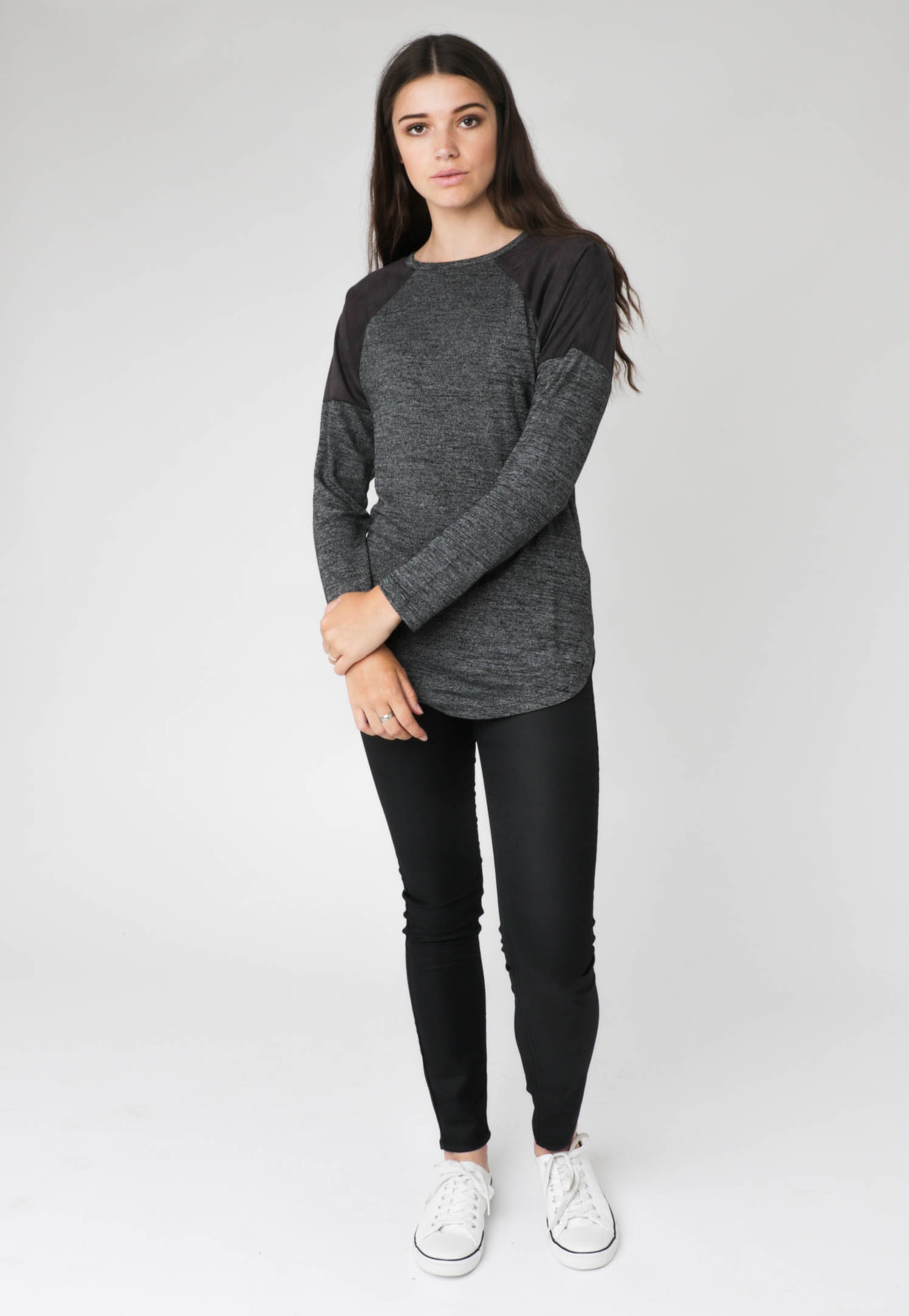 All About Eve - Tee Runner L/S - Grey Marle