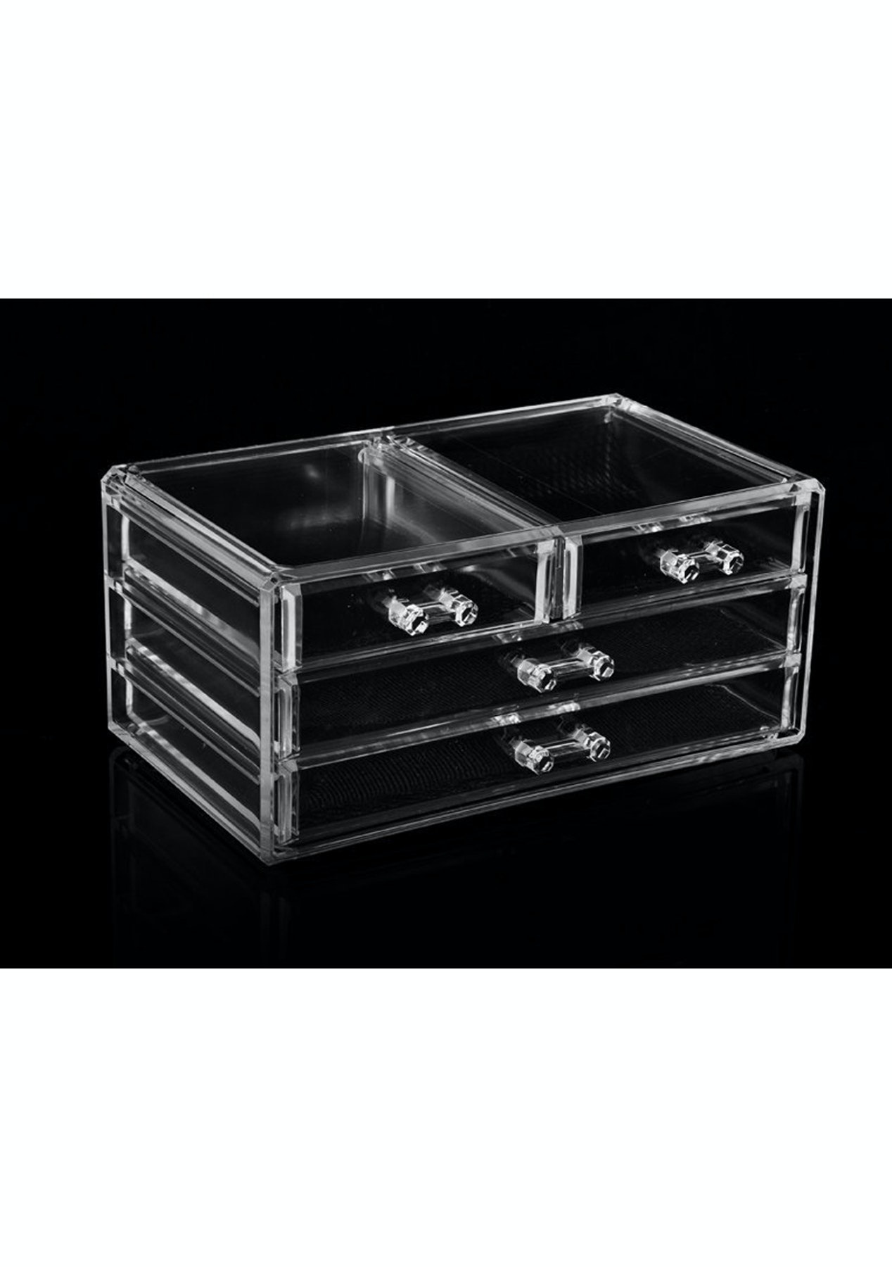 4 Drawer Jewellery Cosmetic Storage Box