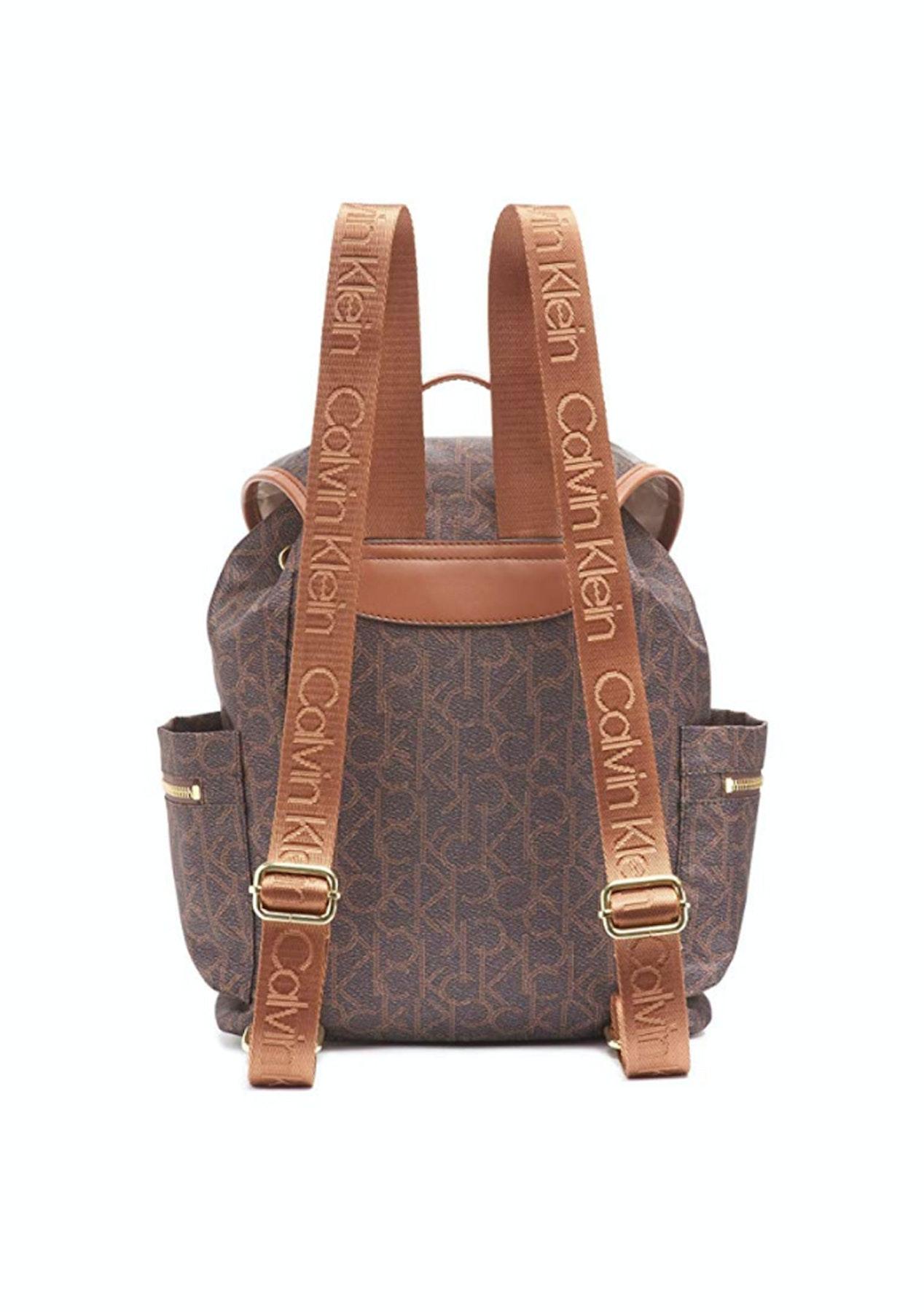 Calvin Klein - Belfast Nylon Backpack With Pockets Brn/Khk Phtprnt