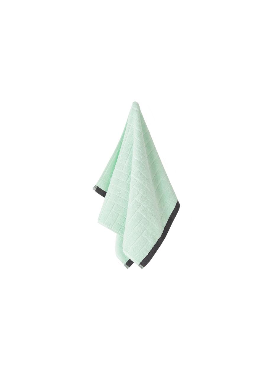 Aura Parquet Hand Towel 450 X 700Mm Pastel Mint