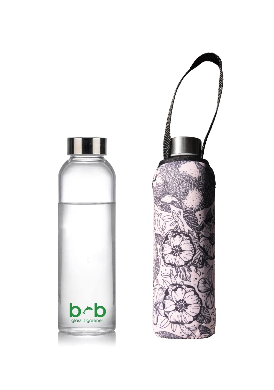 BBBYO - Glass Is Greener Bottle 570 ml + Carry Cover (Bounce Print) - 570 ml