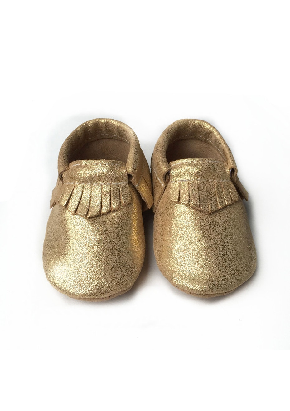Baby  Leather Shoes - Metallic Gold