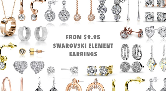 From $9.95 Swarovski Element Earrings