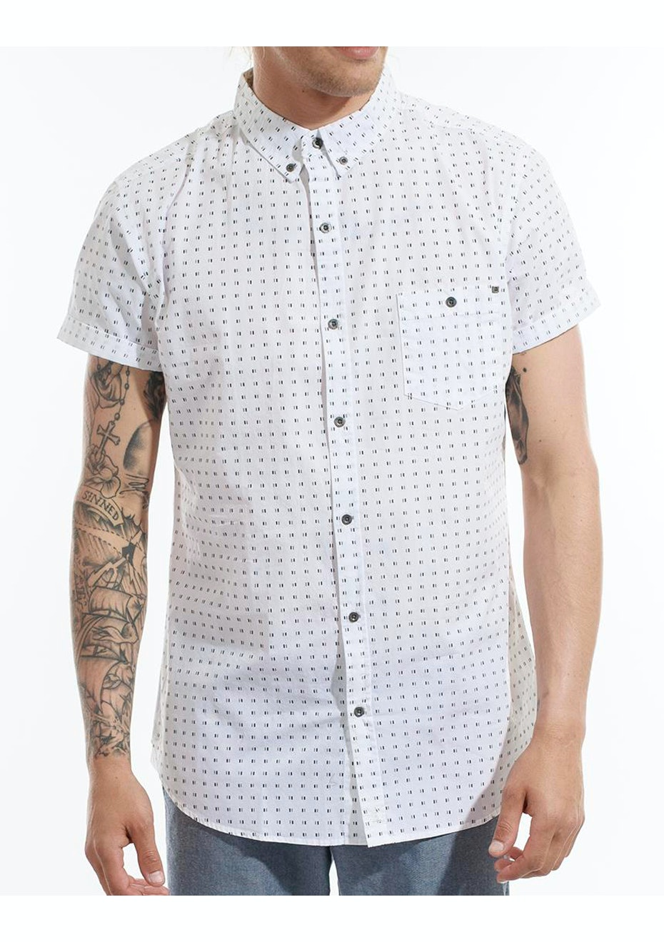 Deacon - Alike SS Shirt - White