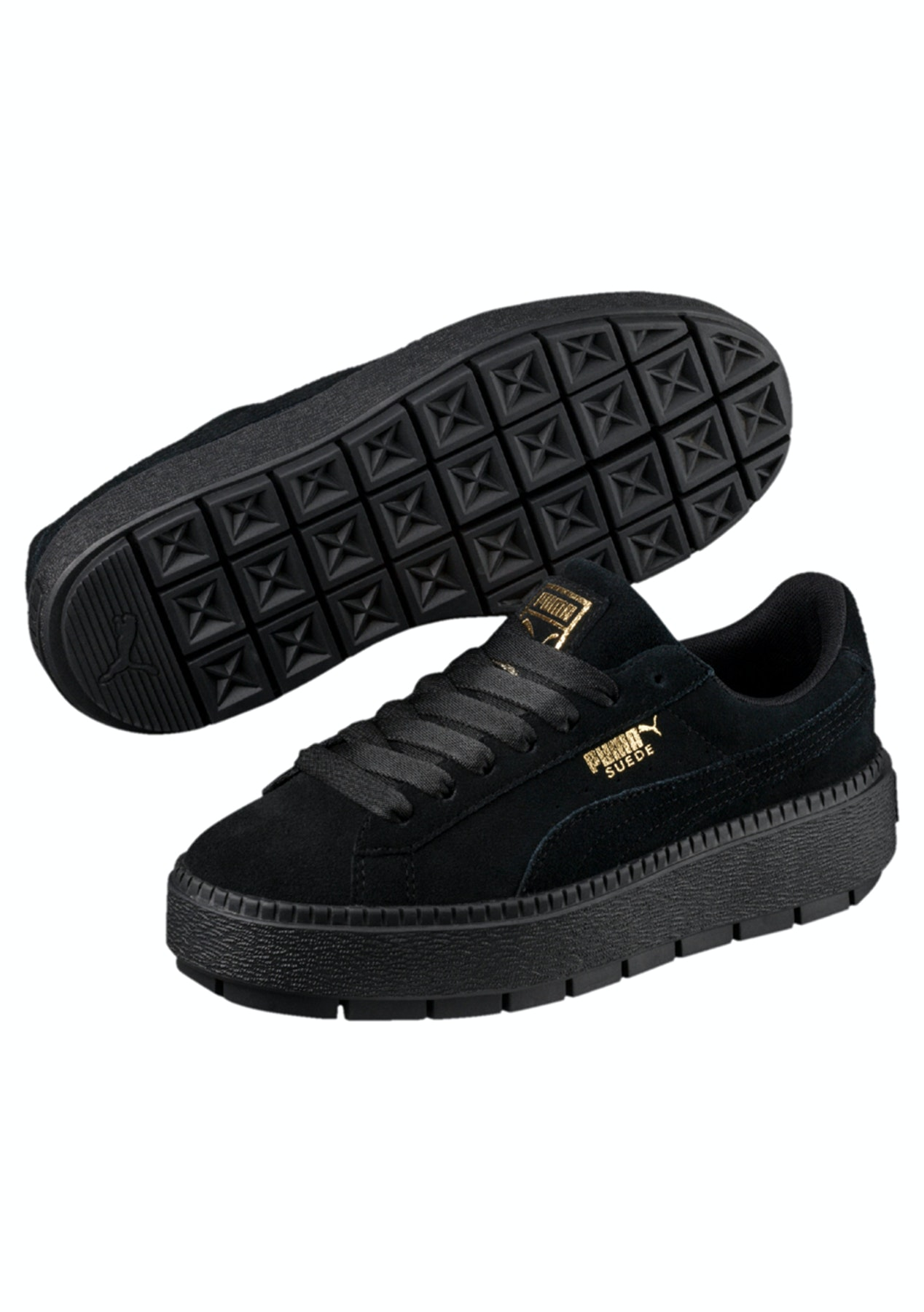 981bcdfe68d5 Puma Womens - Suede Platform Trace Black - Puma Womens   Kids Up to 60% Off  - Onceit
