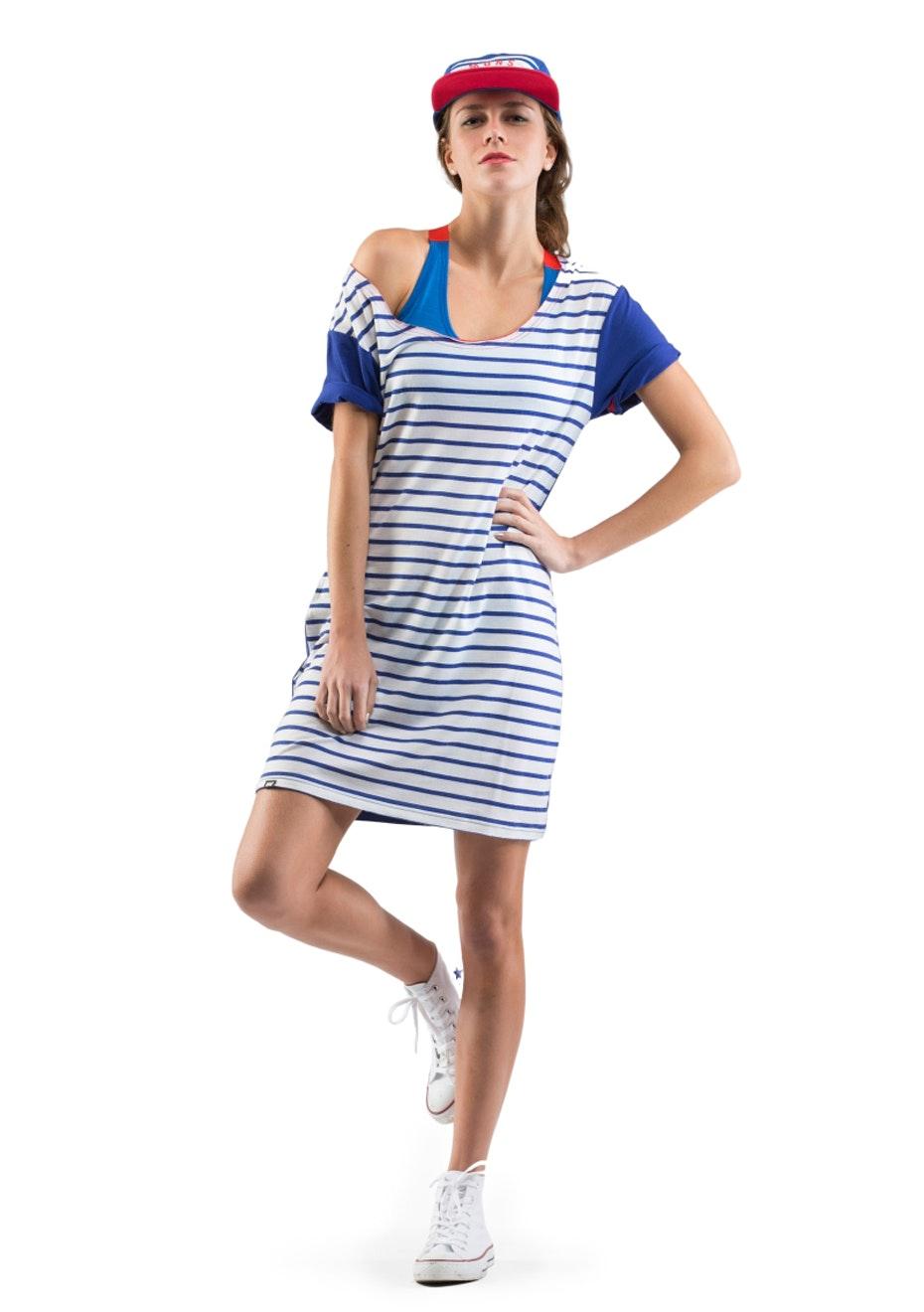 MONS ROYALE - Womens - Sunset Dress - Stripes / Regatta