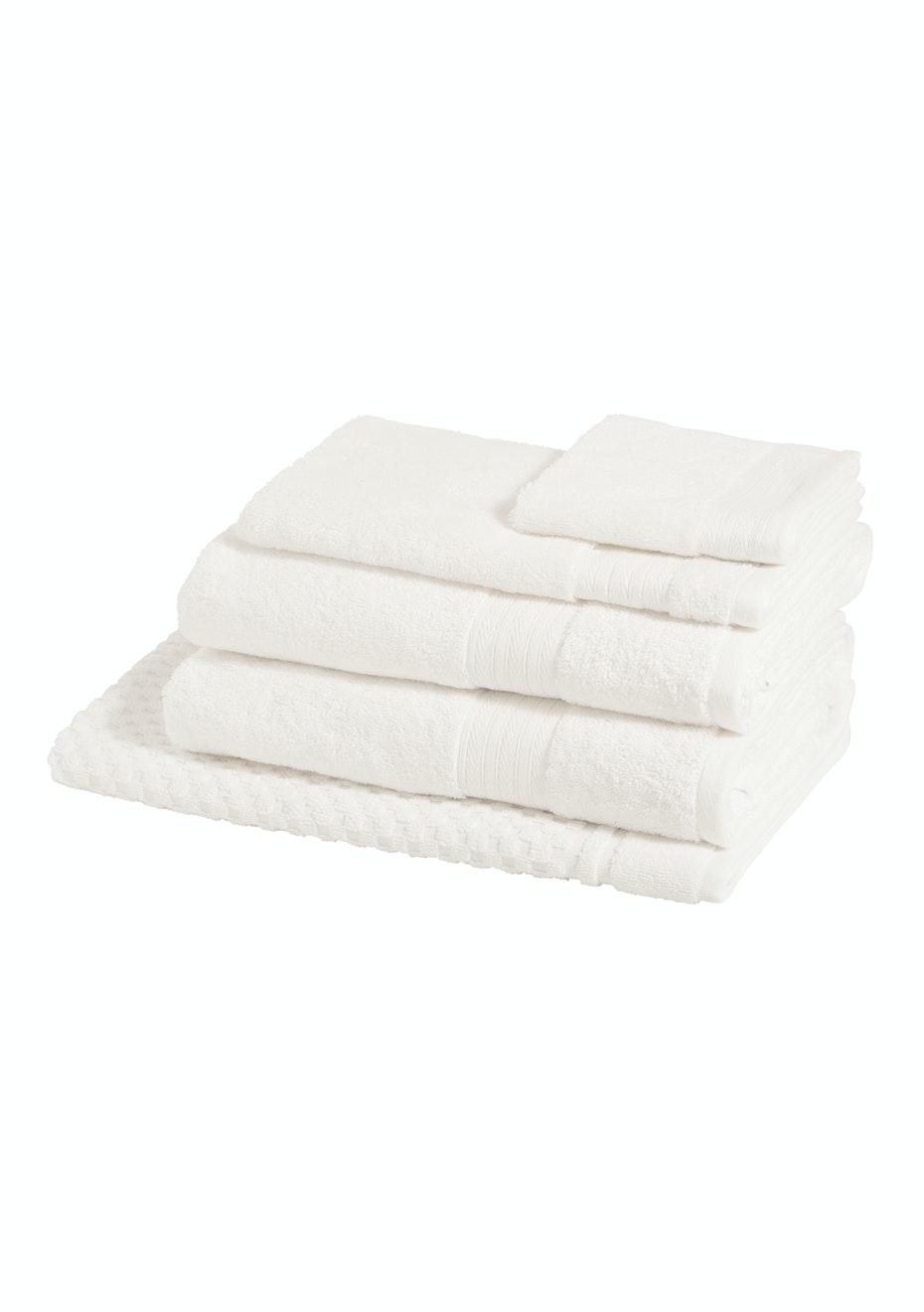 Morrissey Designer Egyptian 5 Pce Towel Pack Snow