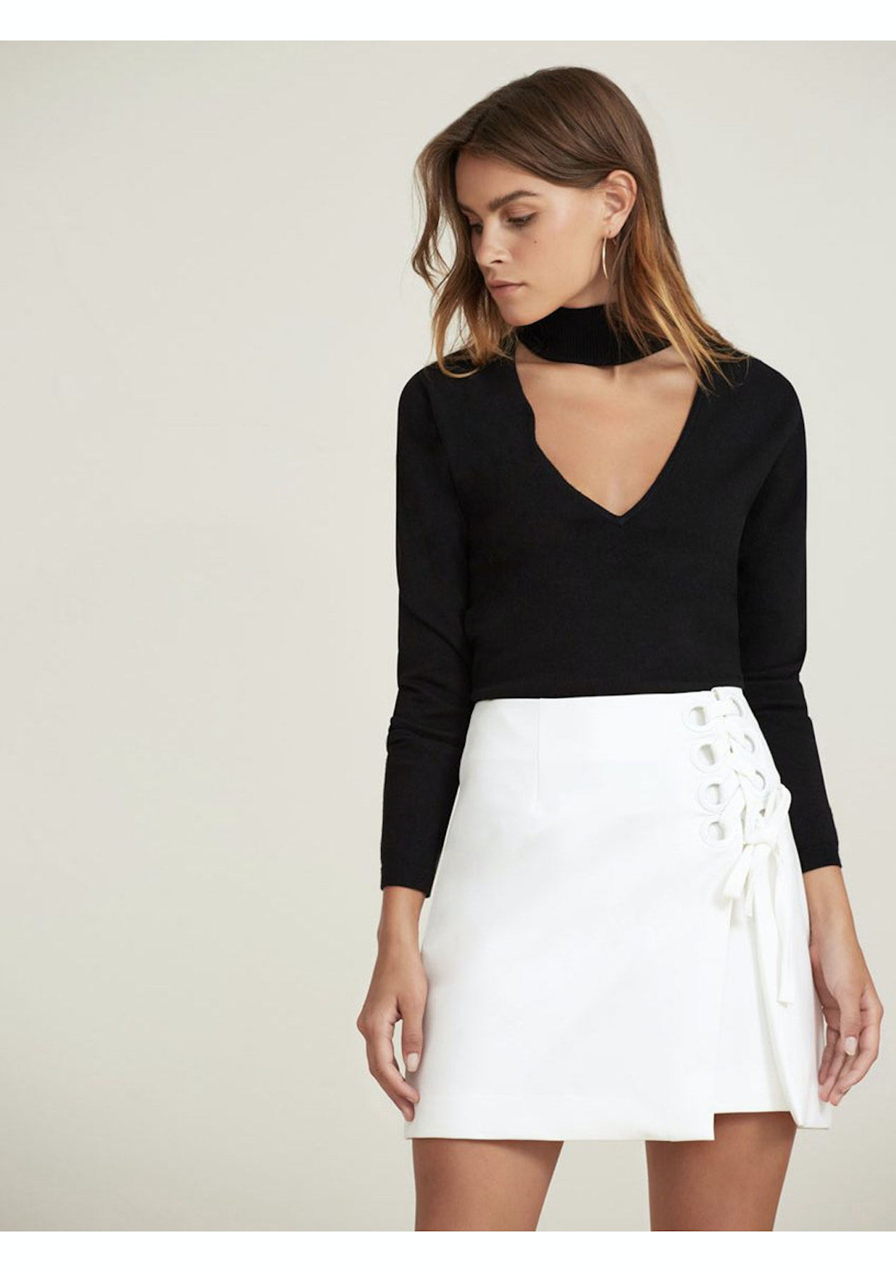 caf1be05a9 FInders Keepers - Unbelievers Skirt - Ivory - Designer Outlet - Onceit