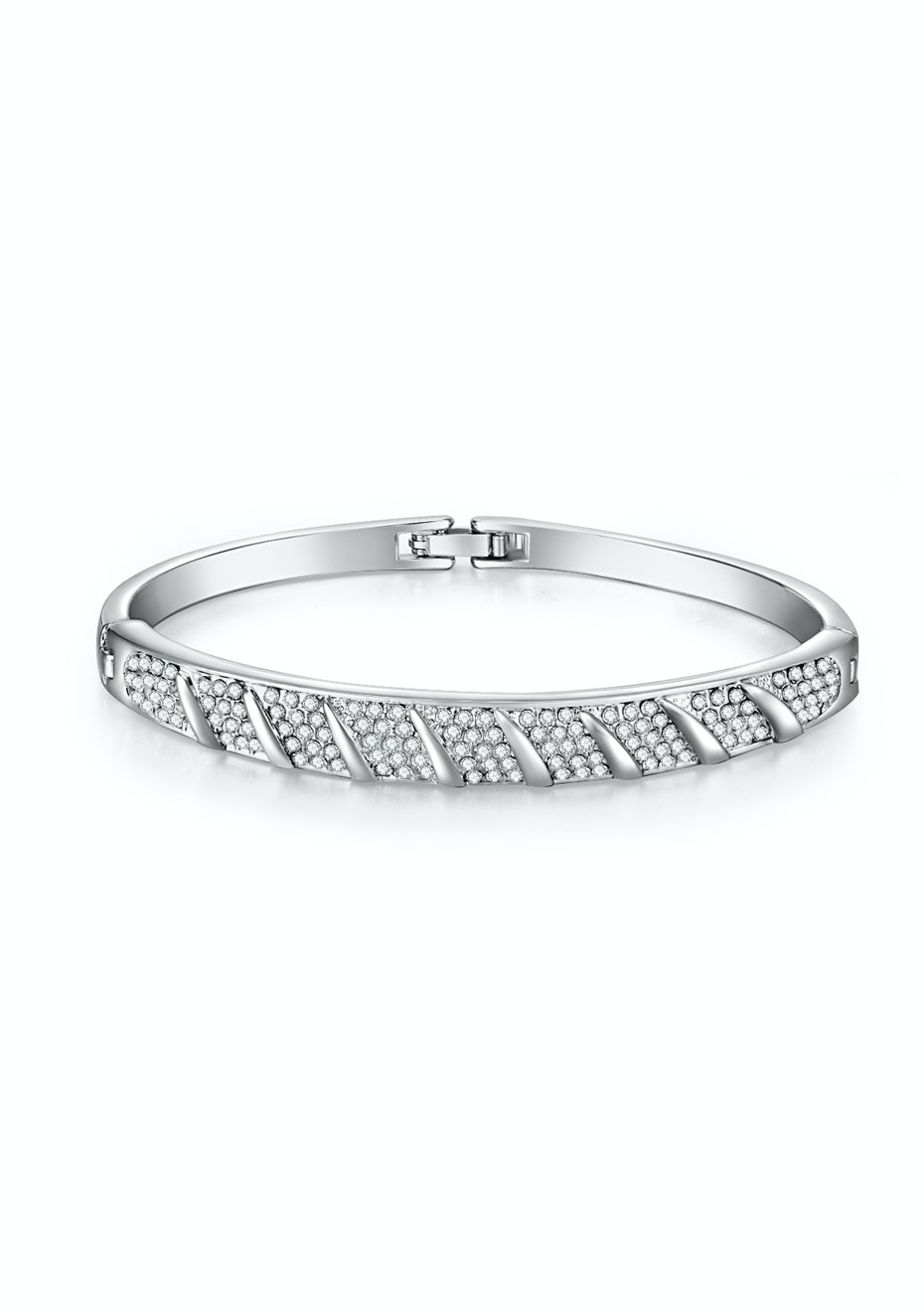 Diana Bangle Embellished with Crystals from Swarovski