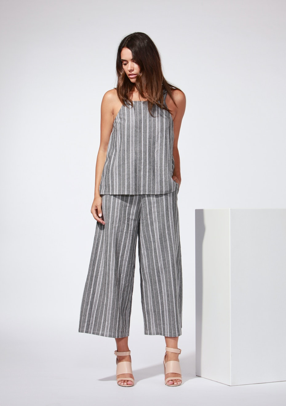 Fate - Linden Cropped Pant  - Stripe
